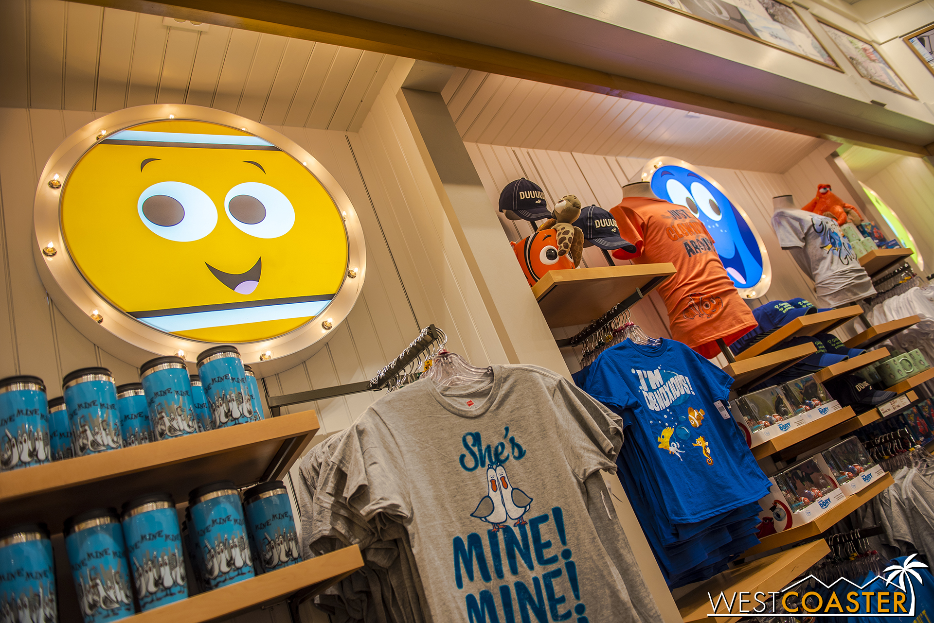 The store has been done up to offer all sorts of Pixar paraphernalia.