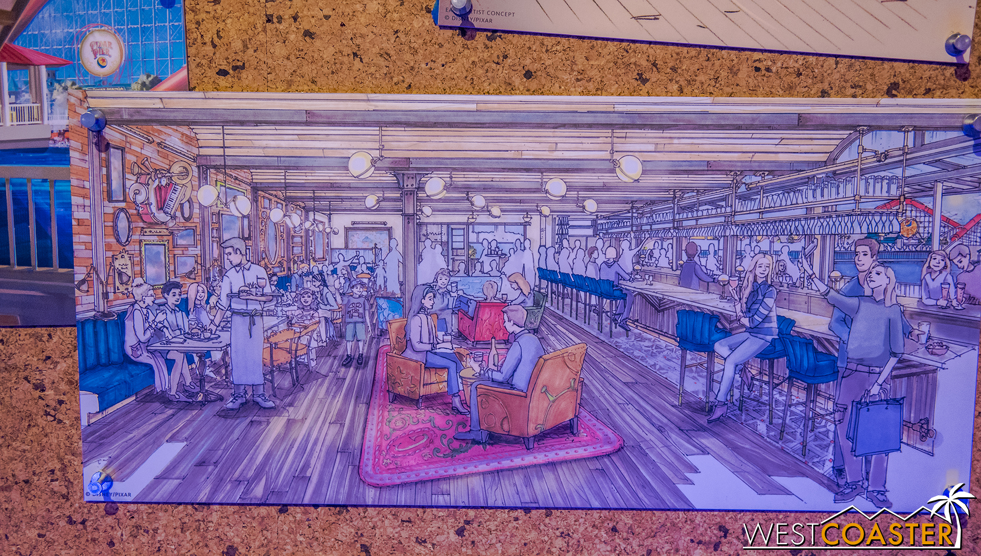 Here's a couple of renderings of the future Lamplight Lounge.
