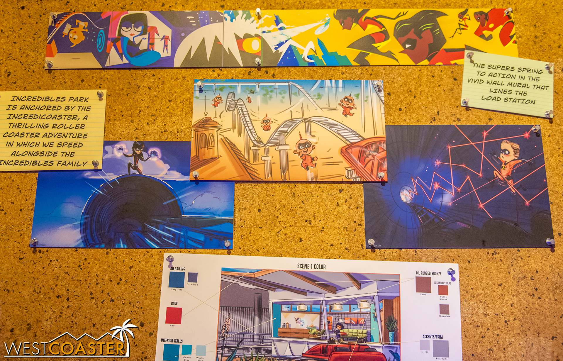And certain scenes on the Incredicoaster.  The track and layout remain the same, but the experience will definitely be different (like Guardians vs Tower of Terror).