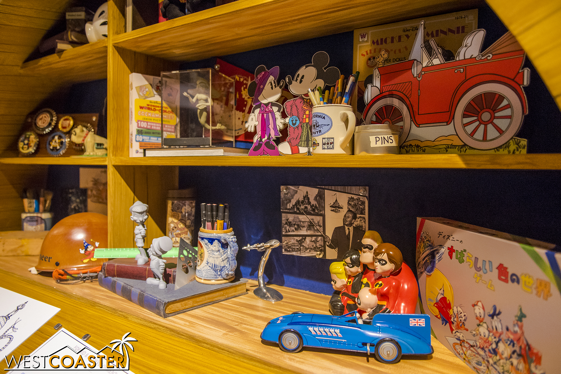 """The back shelf has also been given a bit of """"Pixar-ization"""" too."""