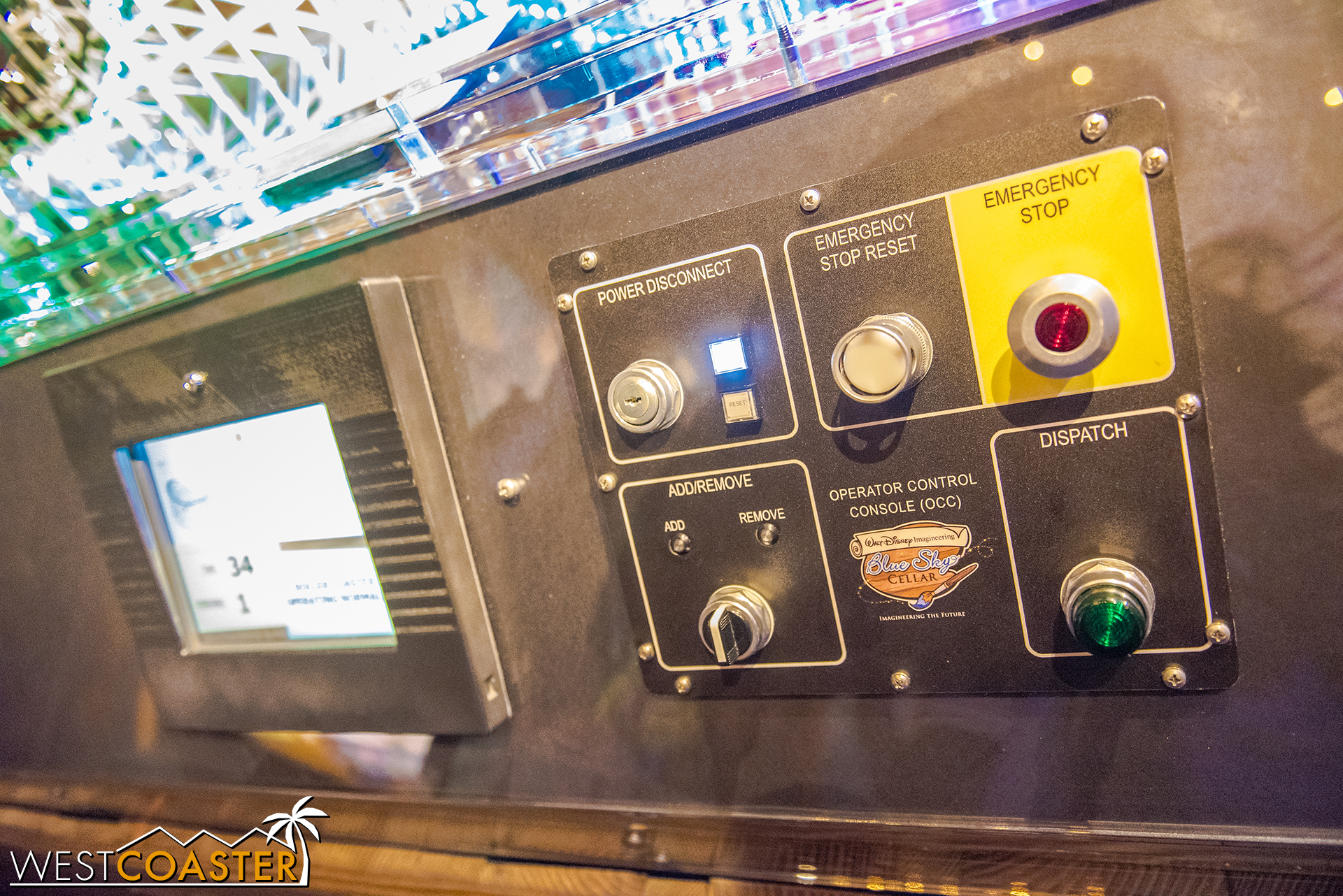 """Guests can """"operate"""" the model coaster, trigger e-stops, and get a sense of how everything works together."""