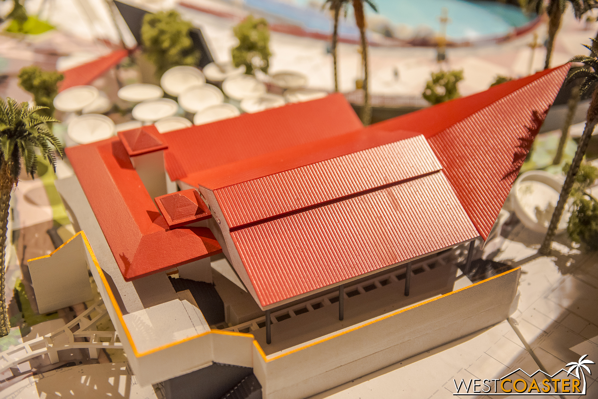 """Here's an """"aerial"""" of the Incredicoaster station."""