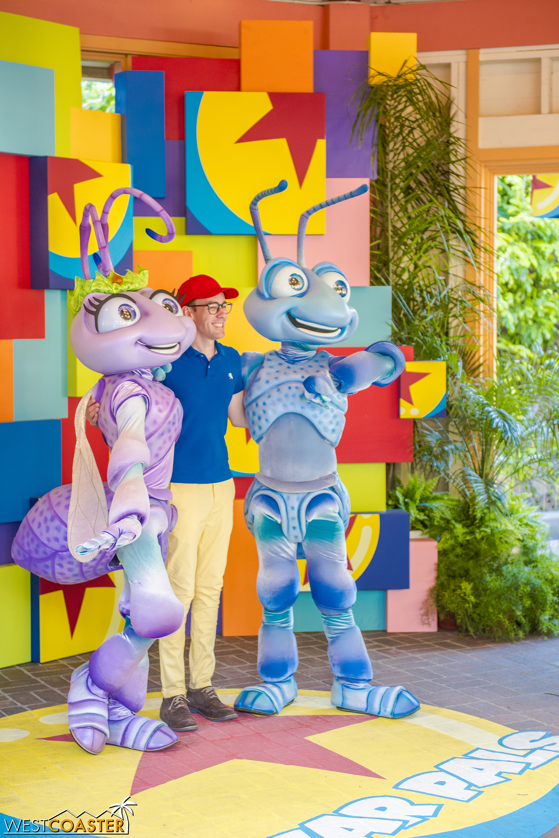 Guests can take their picture with different Pixar characters depending on the day and time.