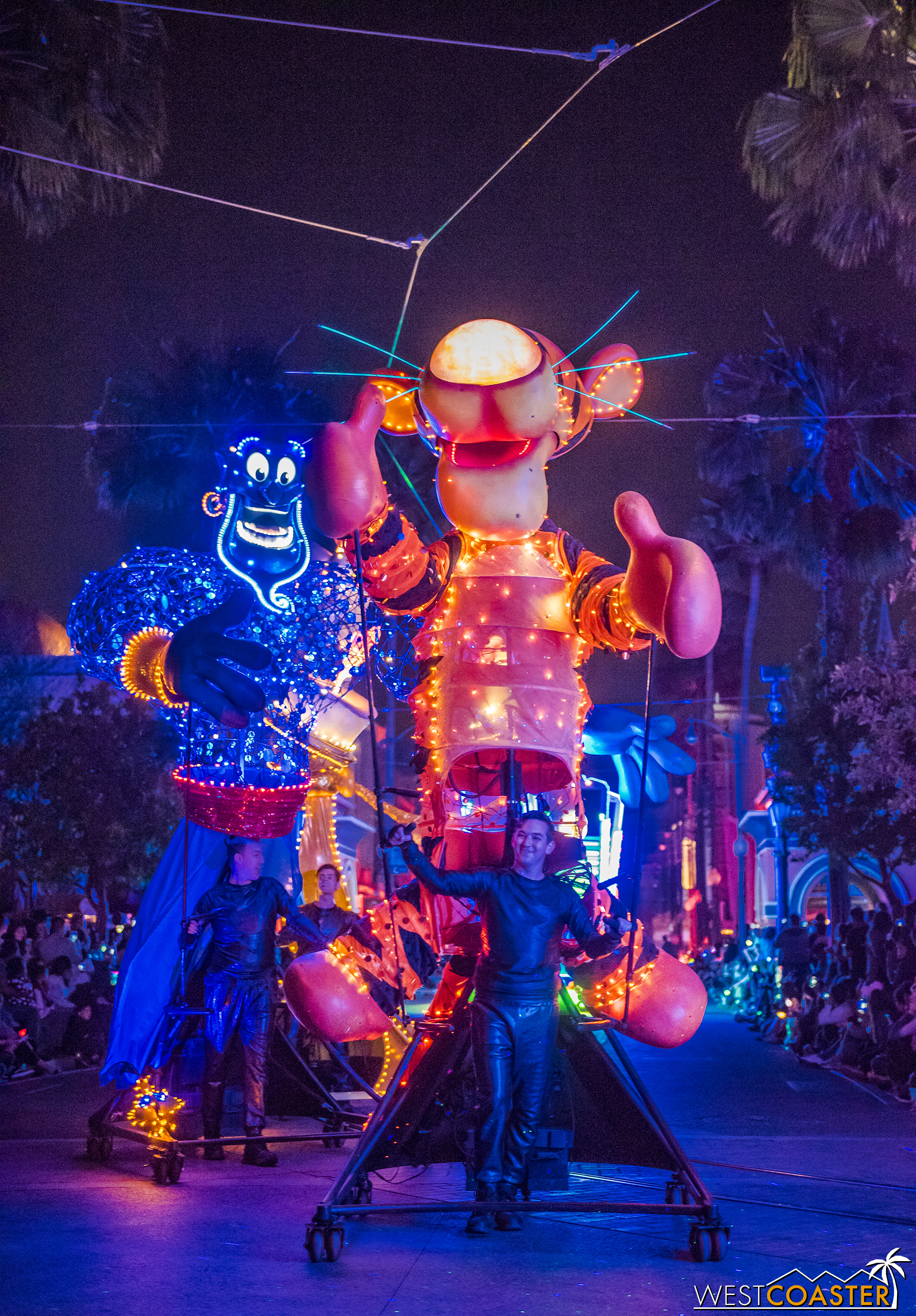 And the old World of Color preshow giant puppets are back in their original home park again!