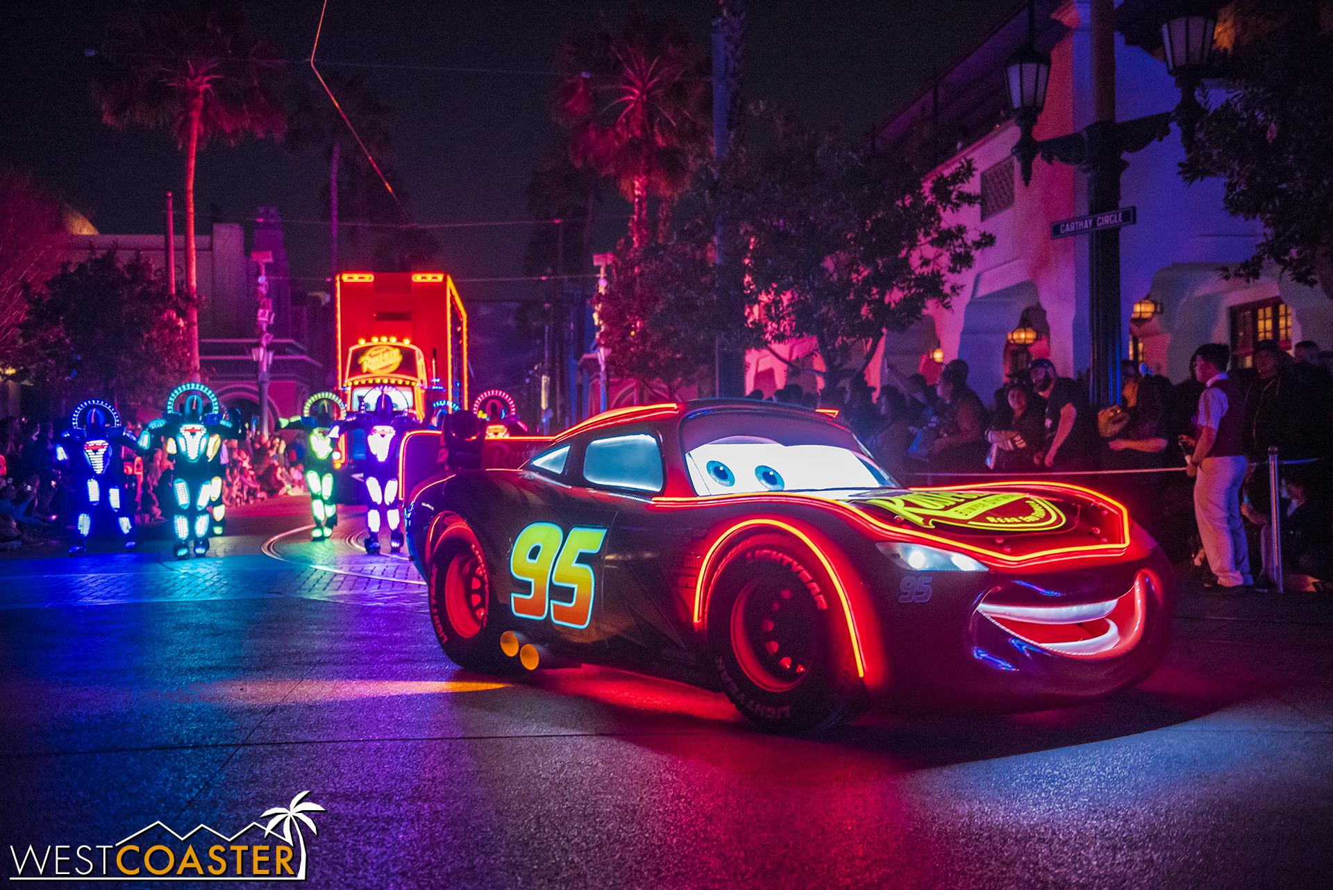 Lighting McQueen is rarin' to go.