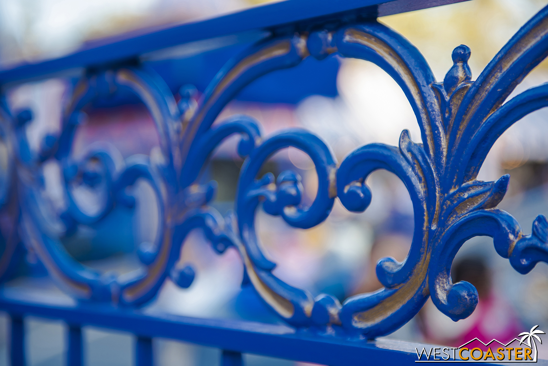The railings have been repainted but aged a bit.