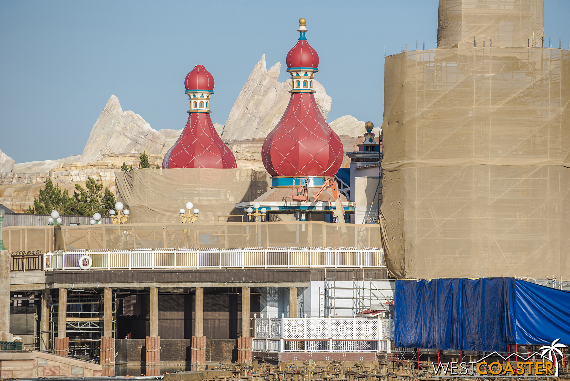 The bulbous roof spires look fantastical but neat.