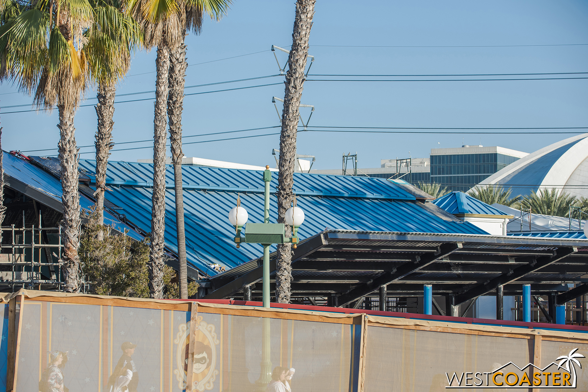 The chevron roof has been decked over too.