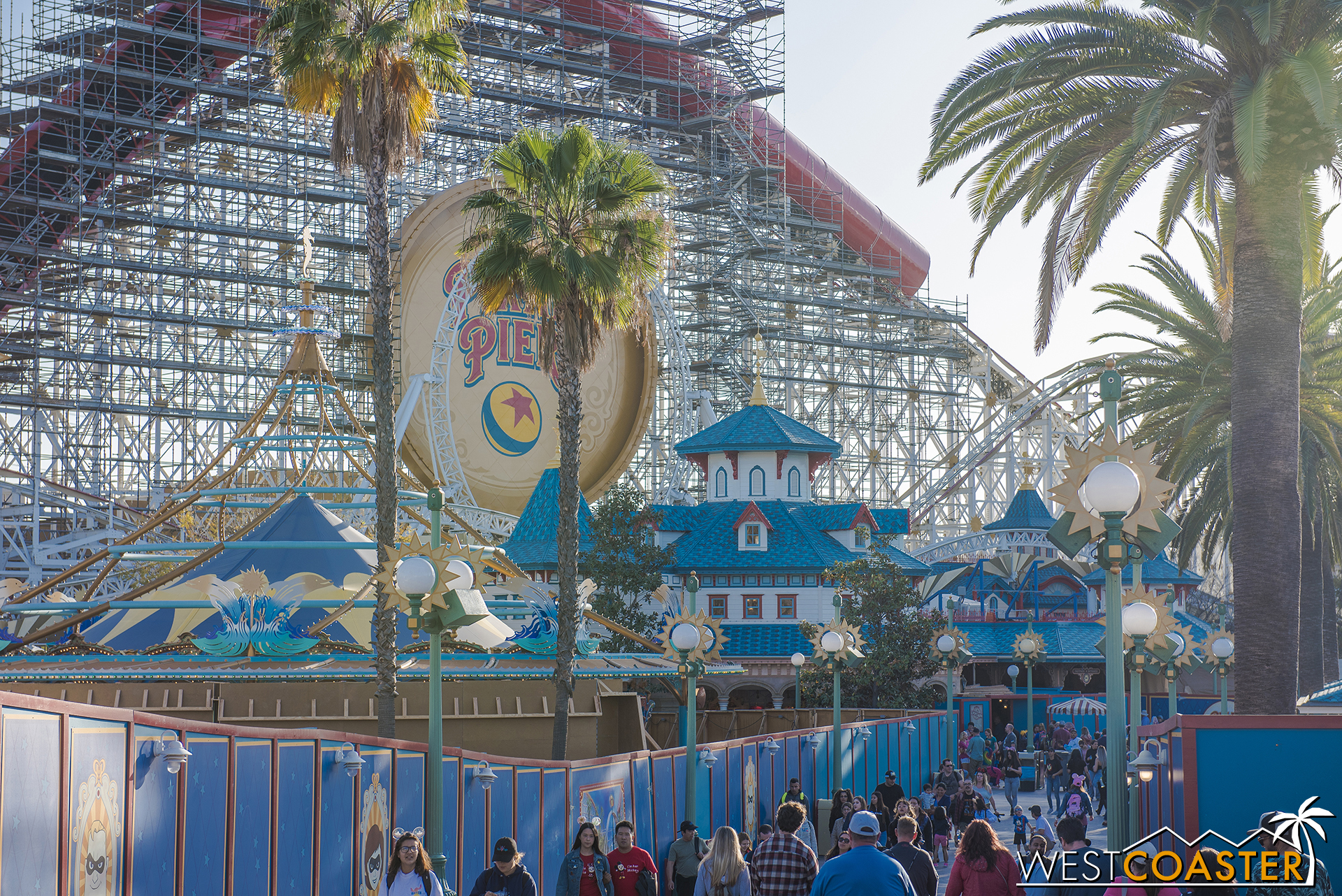 Some concrete formwork has gone up around the carousel.