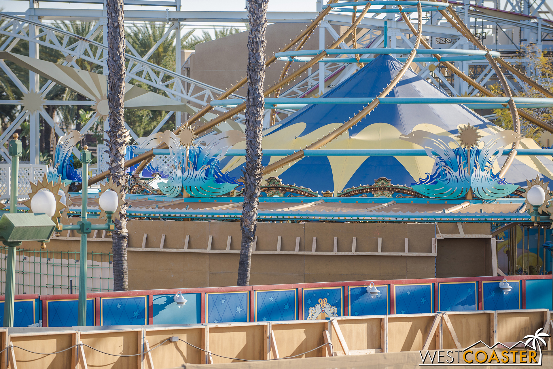 """This will form the concrete """"waterfall wall"""" that's shown in the renderings for Jessie's Critter Carousel."""