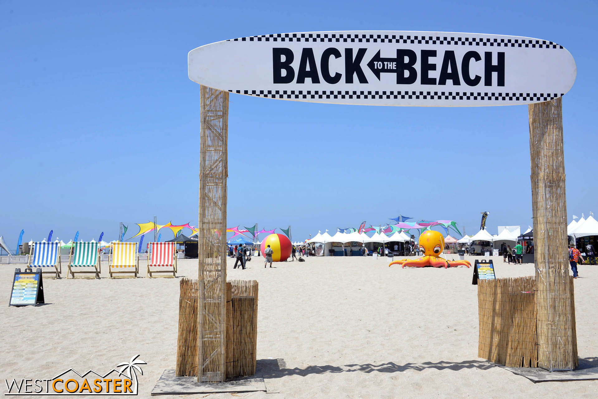Welcome to Back to the Beach Festival!  What a lovely seaside day for a rock festival!