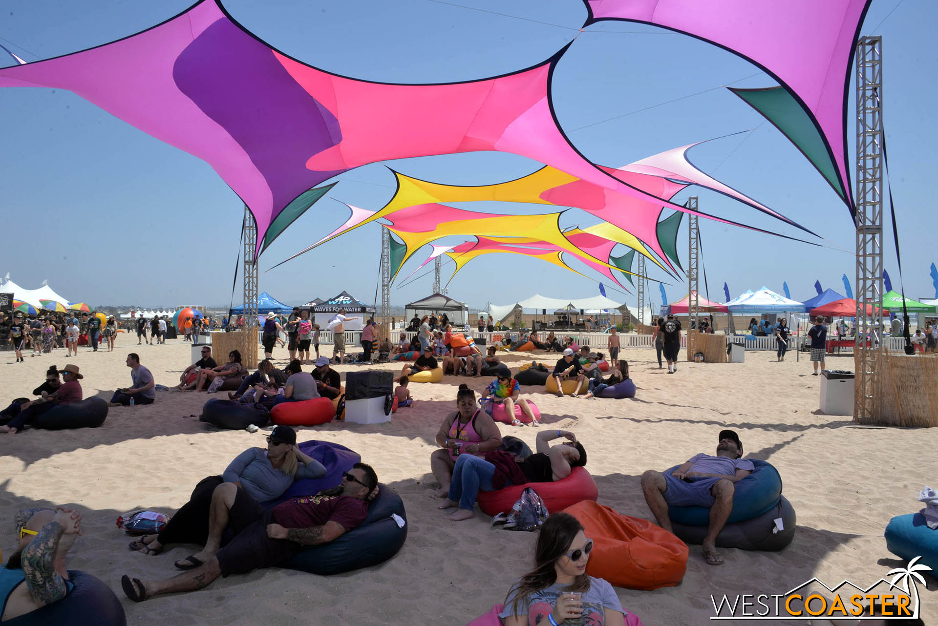 Some more would have been welcome, as people tended to cluster around the shade during the peak afternoon hours.