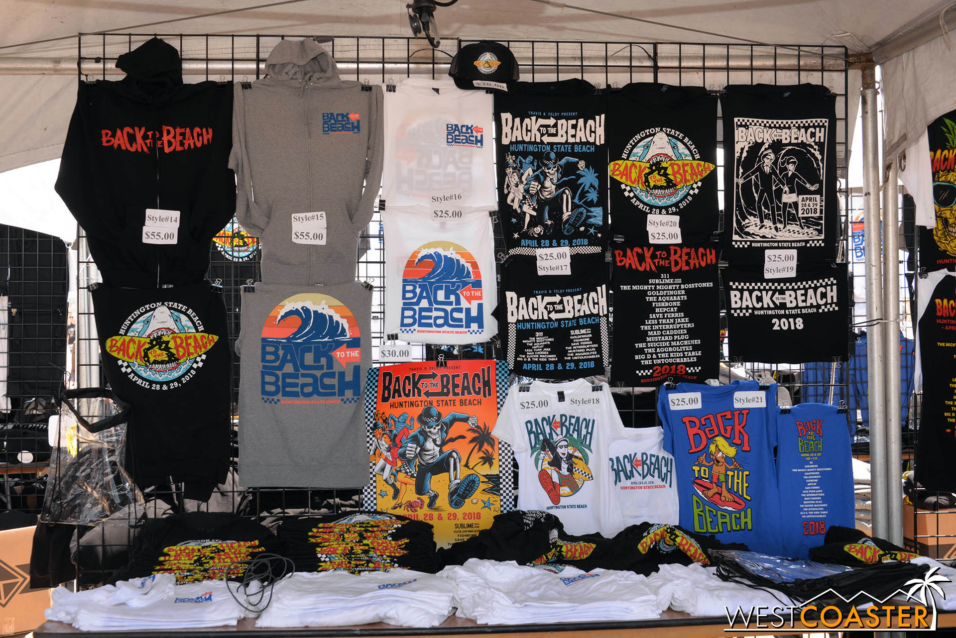 Plenty of merchandise on sale.