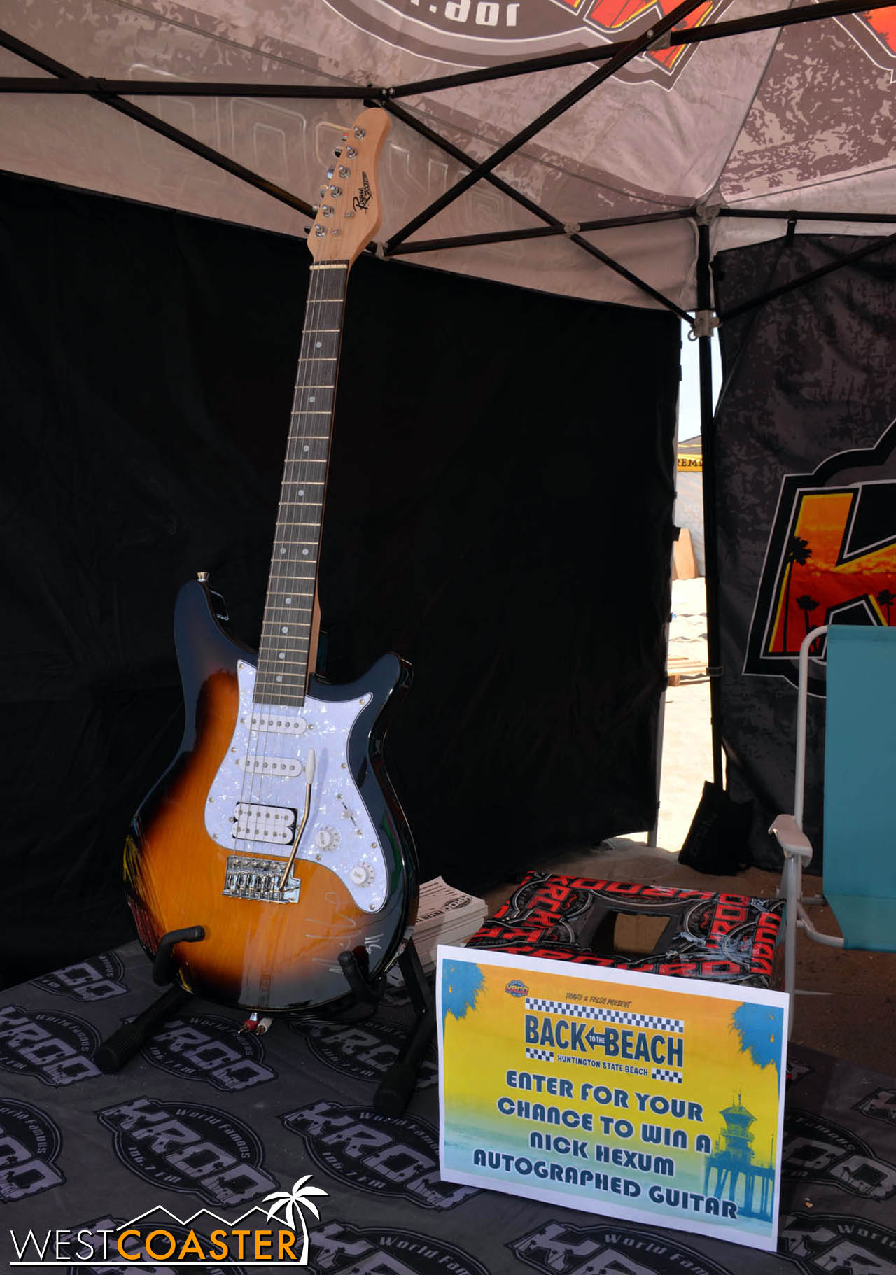 You could win a guitar in a raffle.