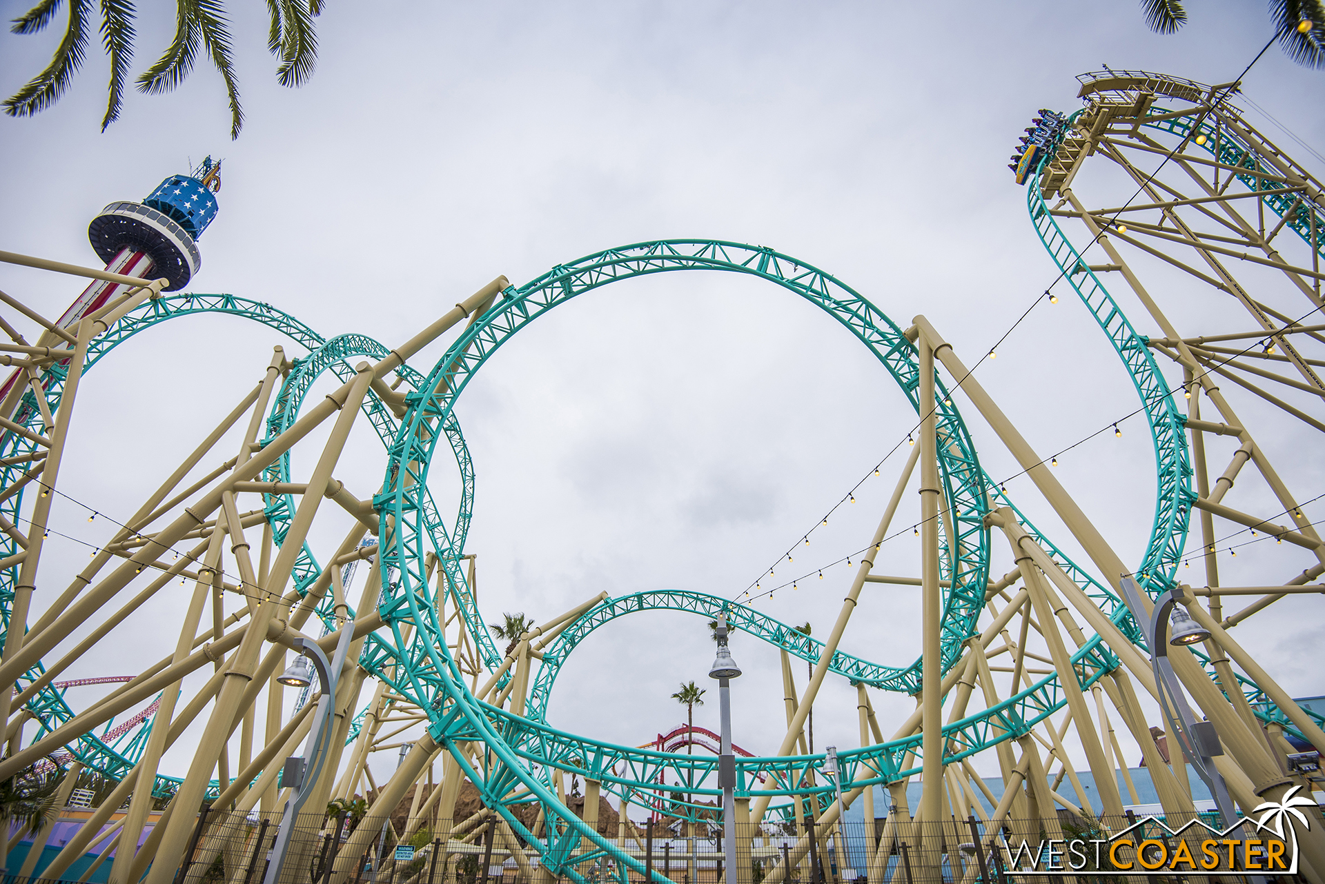 The first drop goes beyond 90° and is pretty darn cool.