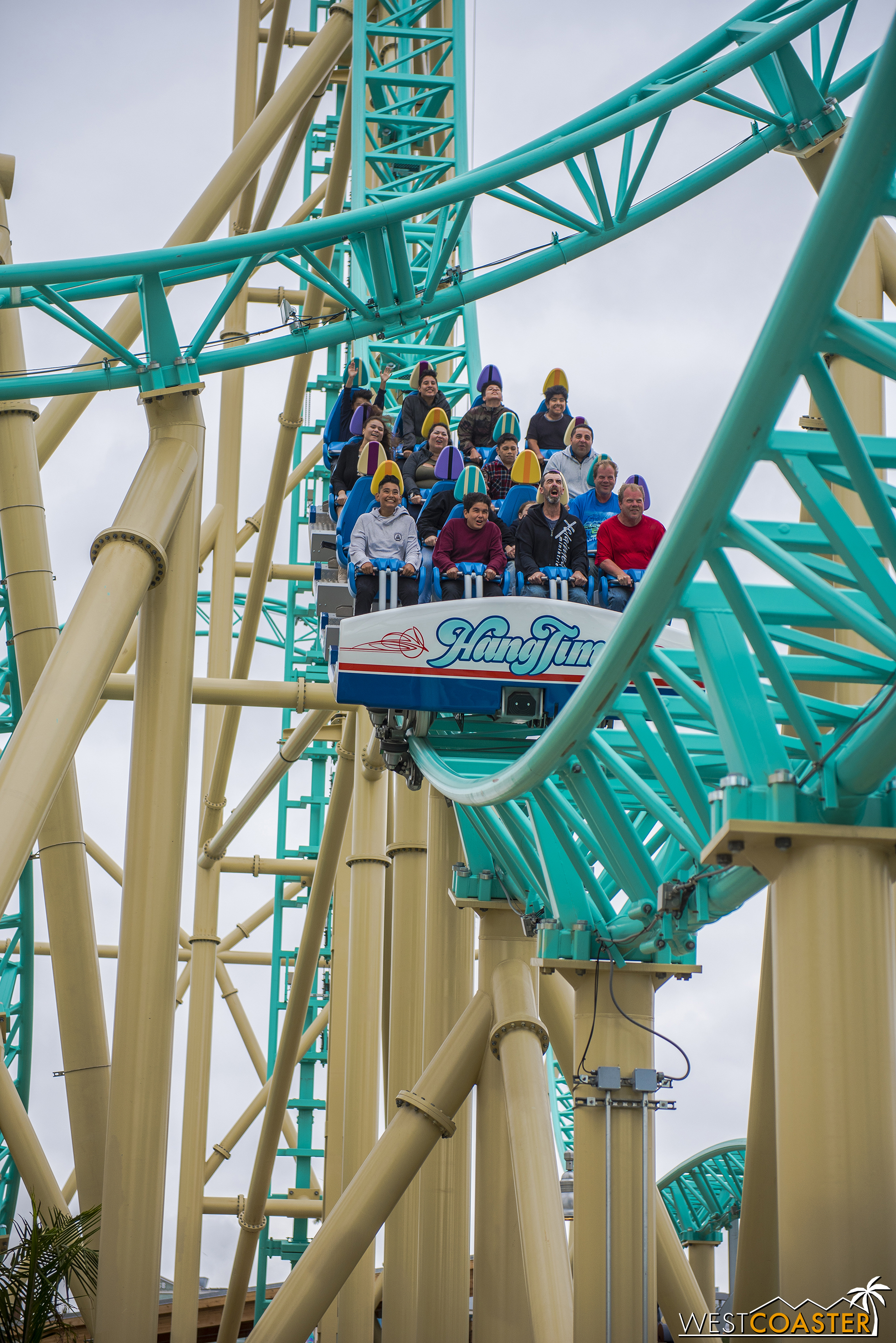 We'll jump around the coaster.  Here's the bottom of the first drop again.