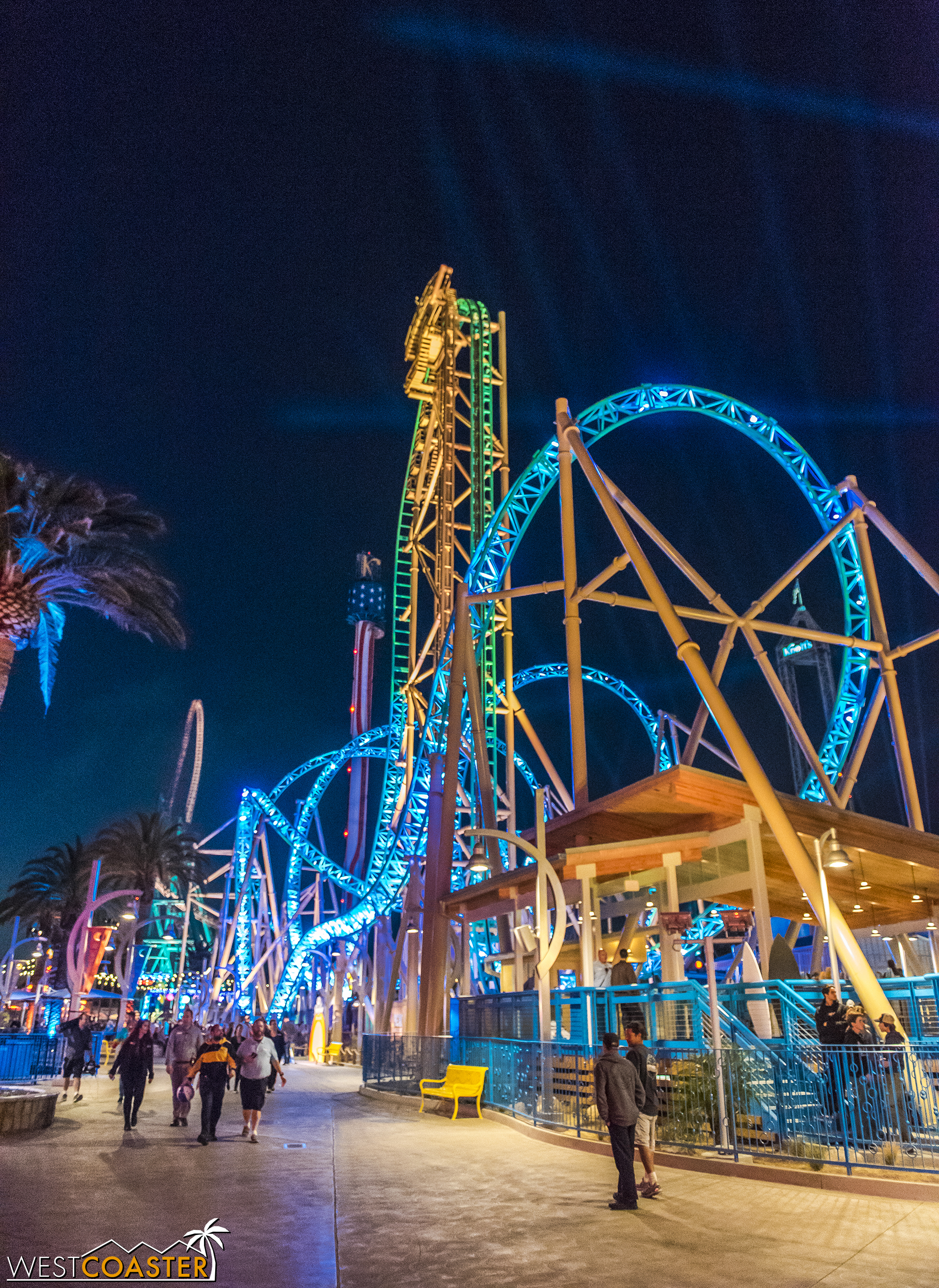 The coaster ain't too shabby at night either!