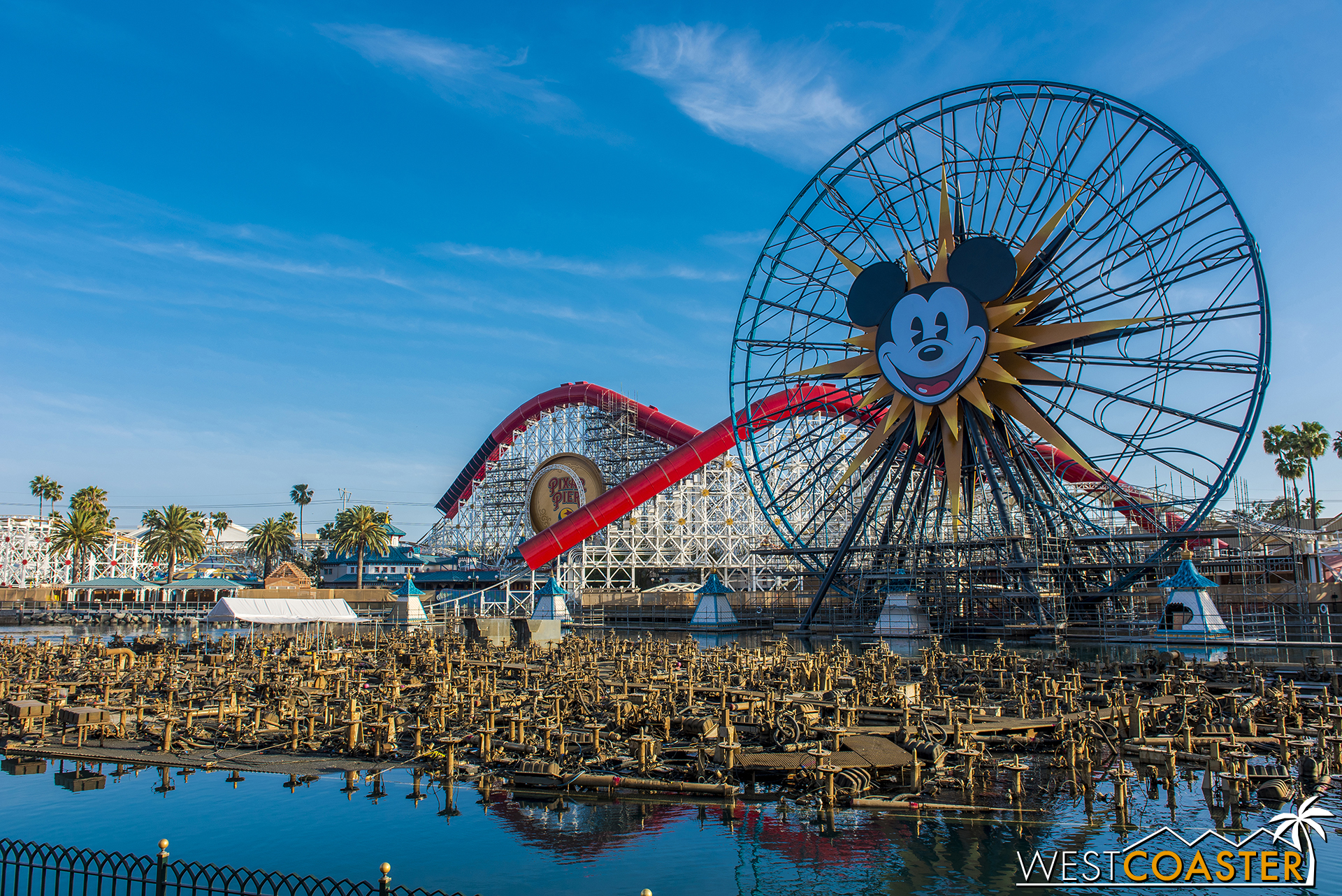 And it's almost completely come down at Mickey's Fun Wheel Cuz That's Its Name Not That Pixar Pal-A-Round Cockamamy.