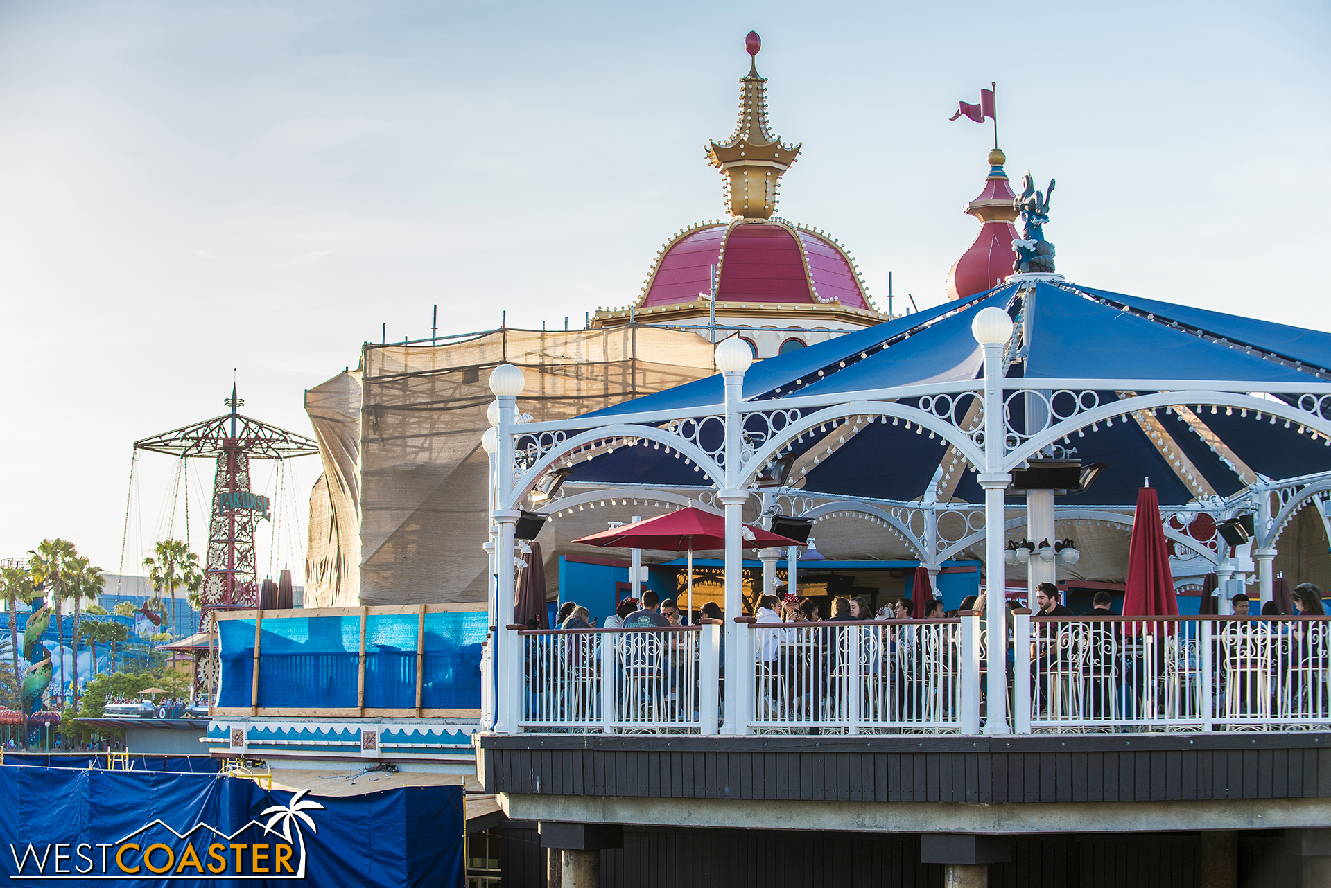 The removal of the high scrim walls along the turn over the Incredicoaster launch has provided new angles to photograph.