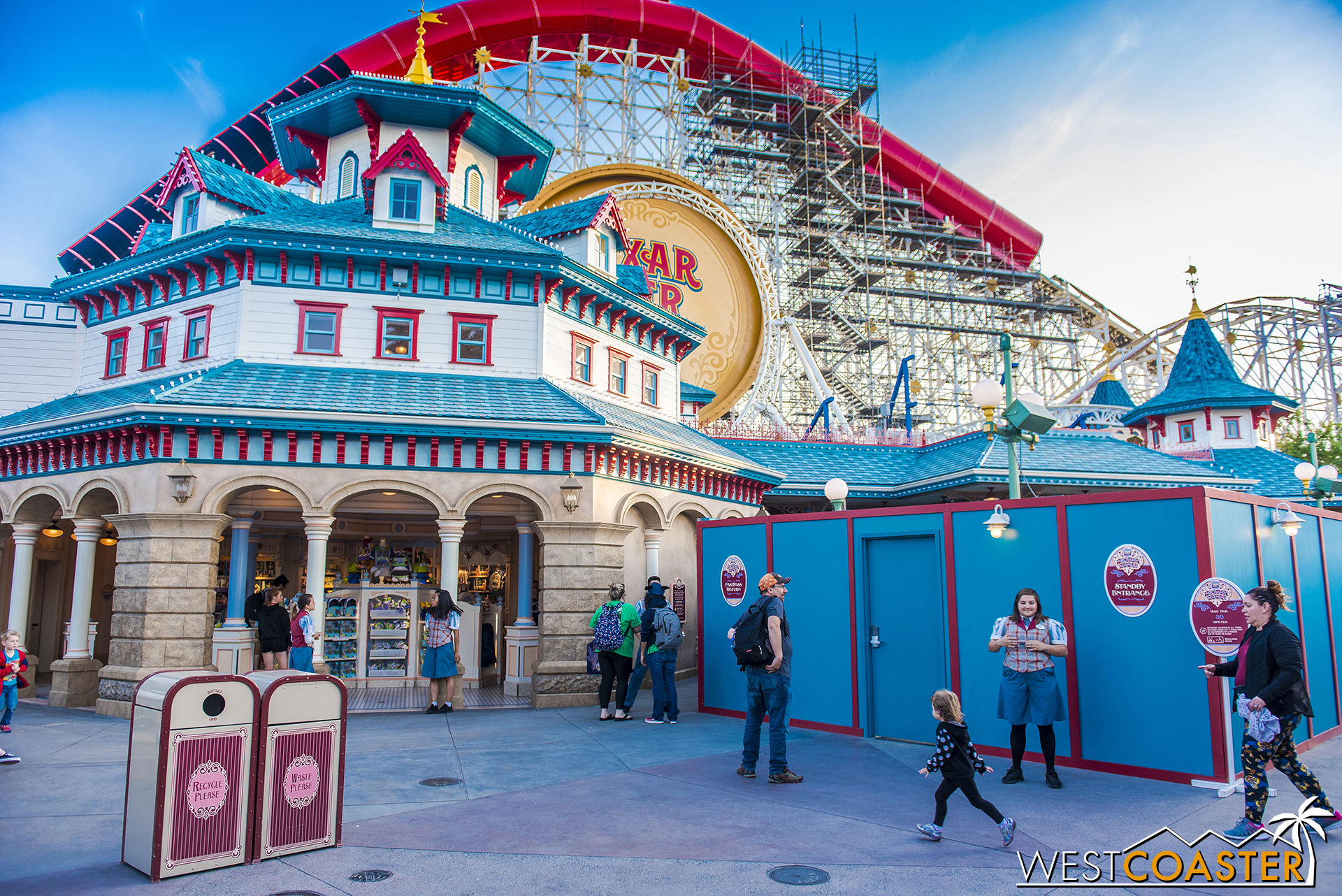 Lets take some close-up looks at the Midway Mania facades that have been uncovered now.