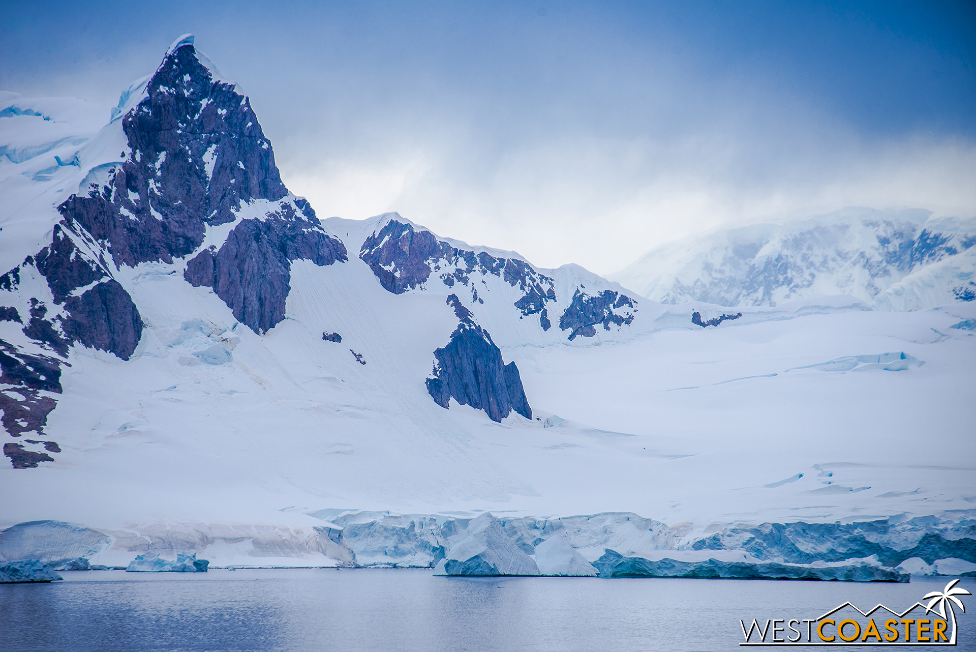The Antarctic landscape as we head southward from Neko Harbor earlier in the morning.