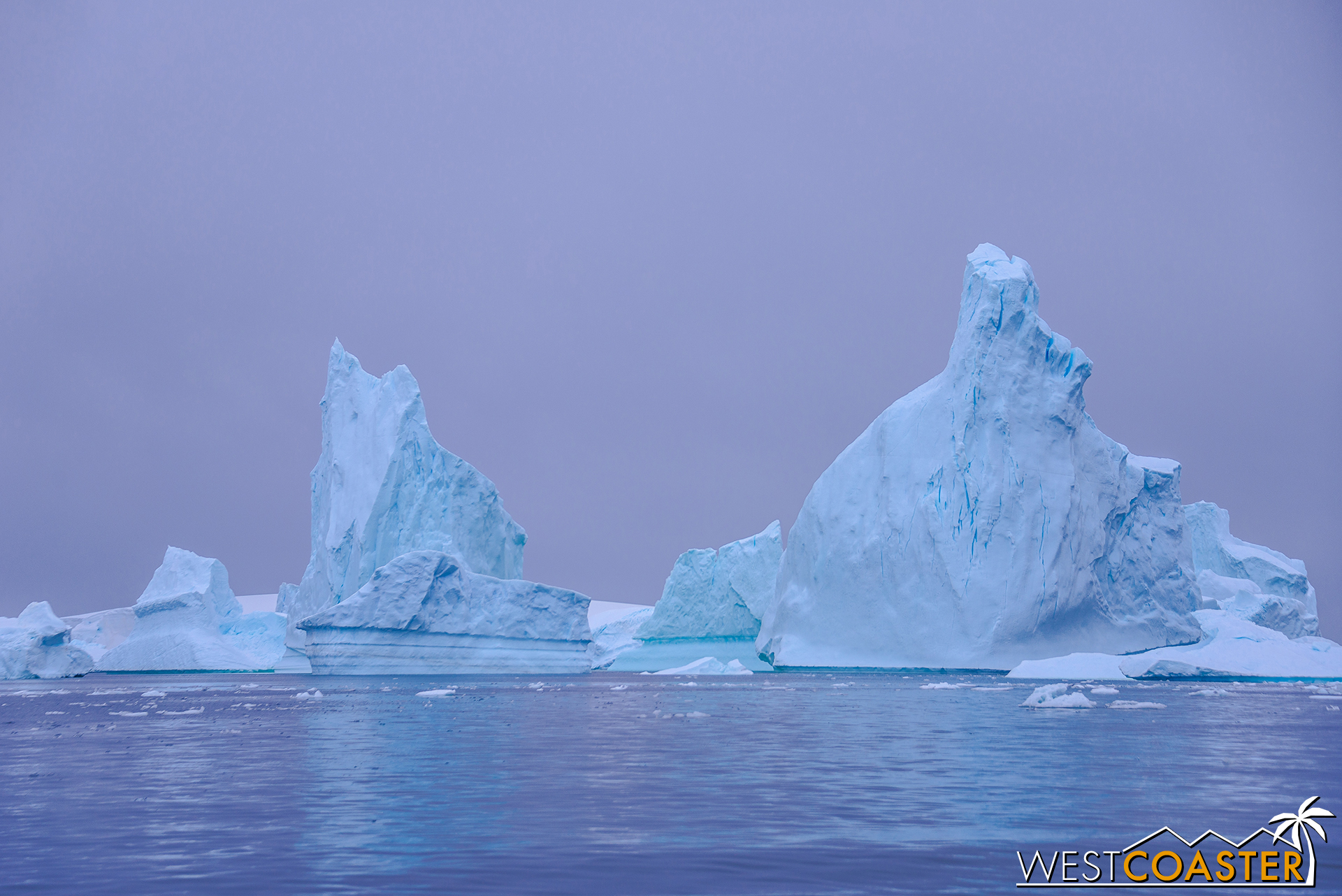 Elsewhere, icebergs can reach several stories tall.