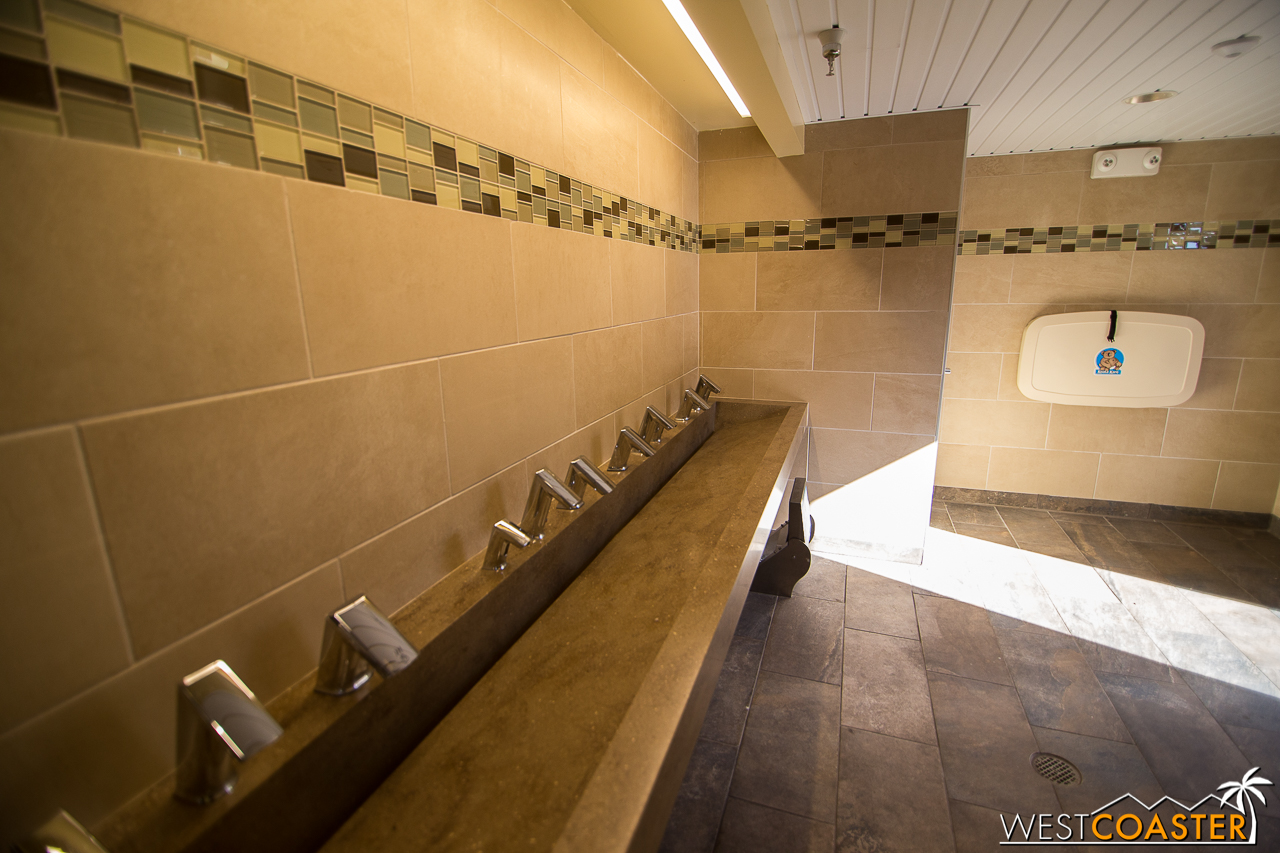 Also note, CGA upped their bathroom game. This is like, theme park luxury.