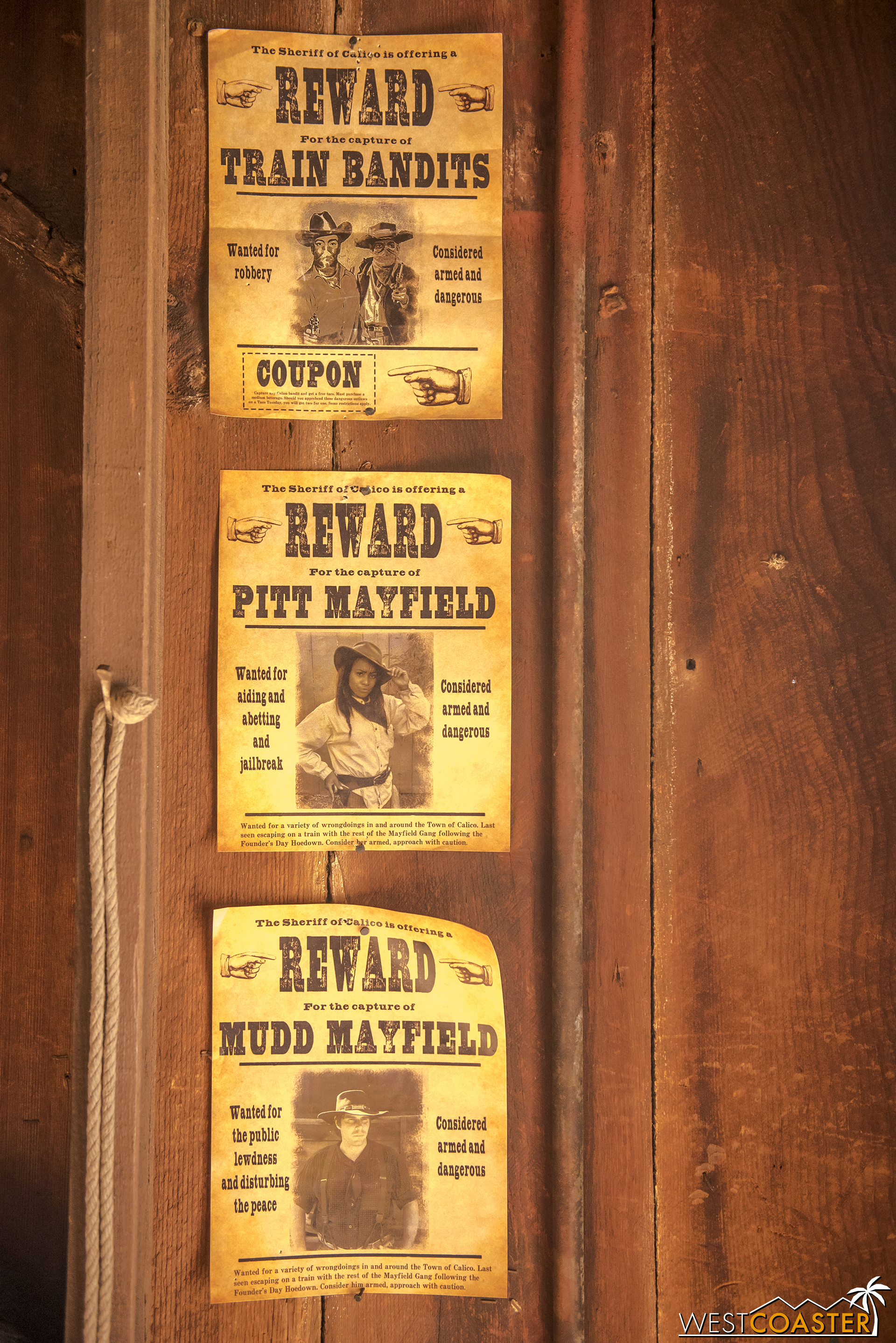 In the Sheriff's Office, there's a nice homage to a couple Ghost Town Alive! characters from last year who are no longer a part of this year's story.