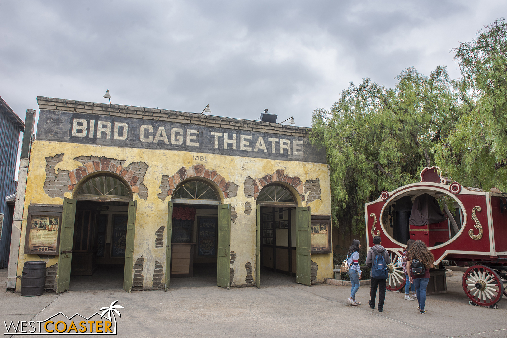 The Bird Cage Theater is home to a park show and is not directly involved with Ghost Town Alive!, but it factors into the lore.