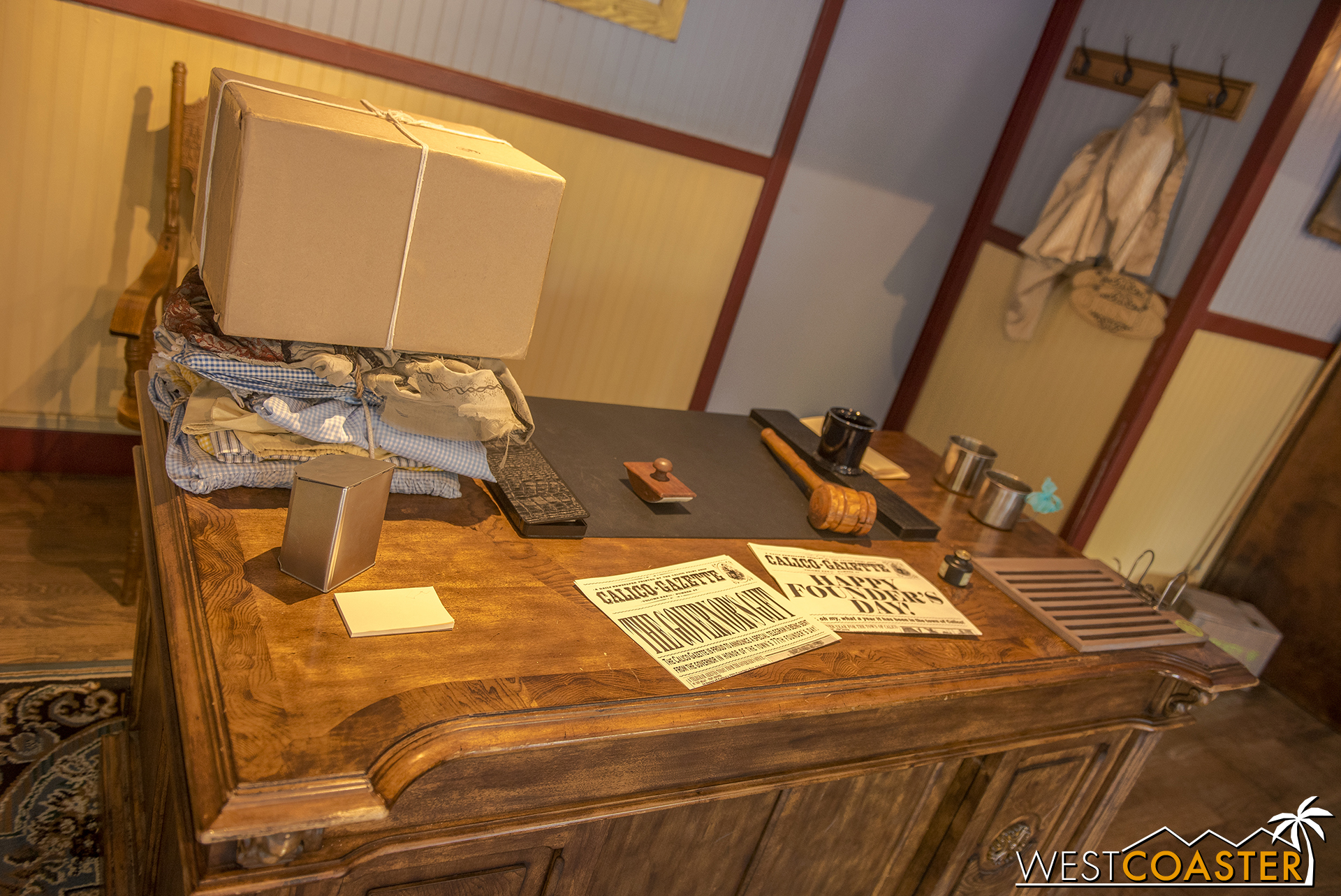 Guests can come in and interact with various Calico officials or take a look at some newly arrived artifacts.