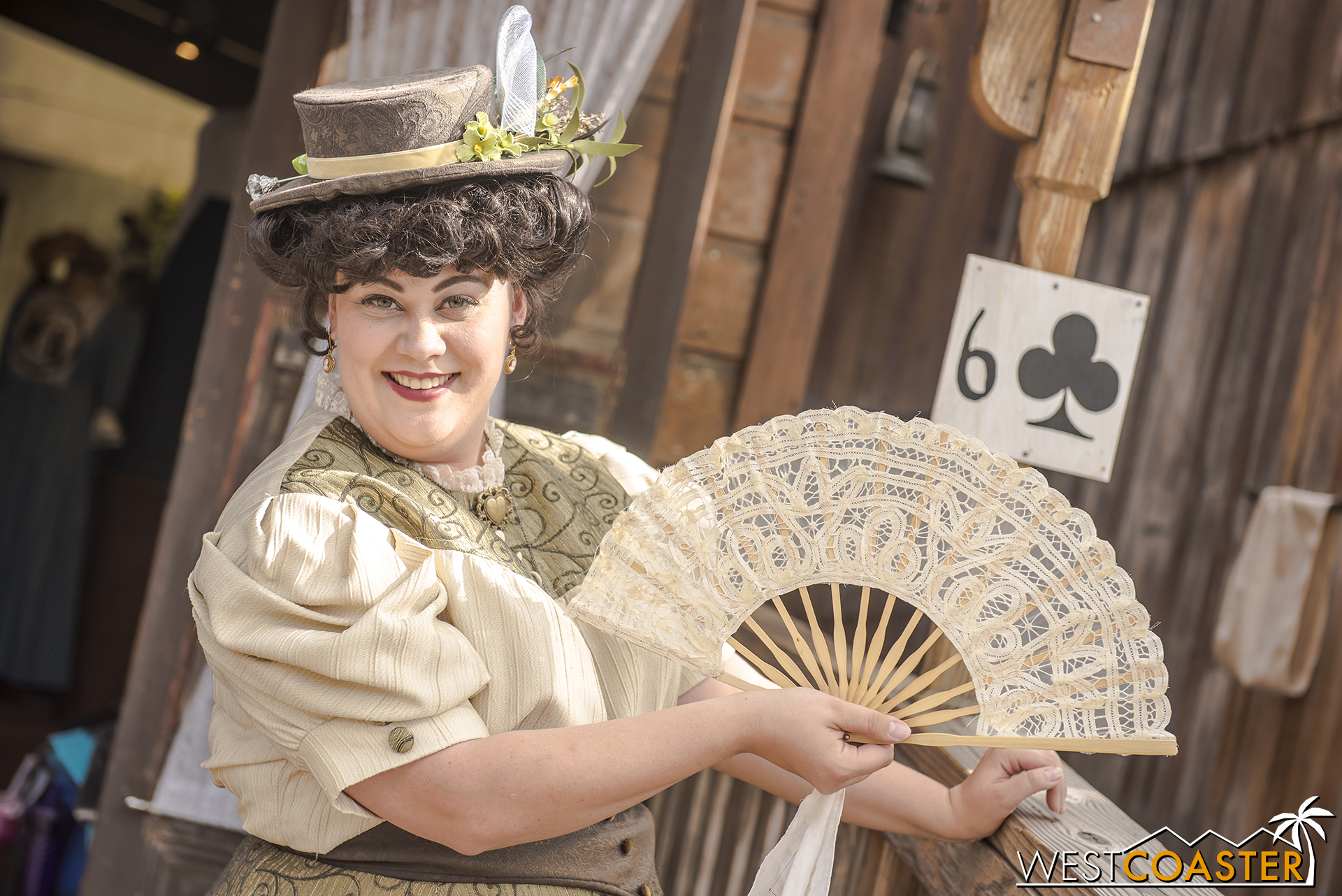 Miss Donna Ferndale has taken up a role running Gertie's Dress Shop while Gertie is away on business.