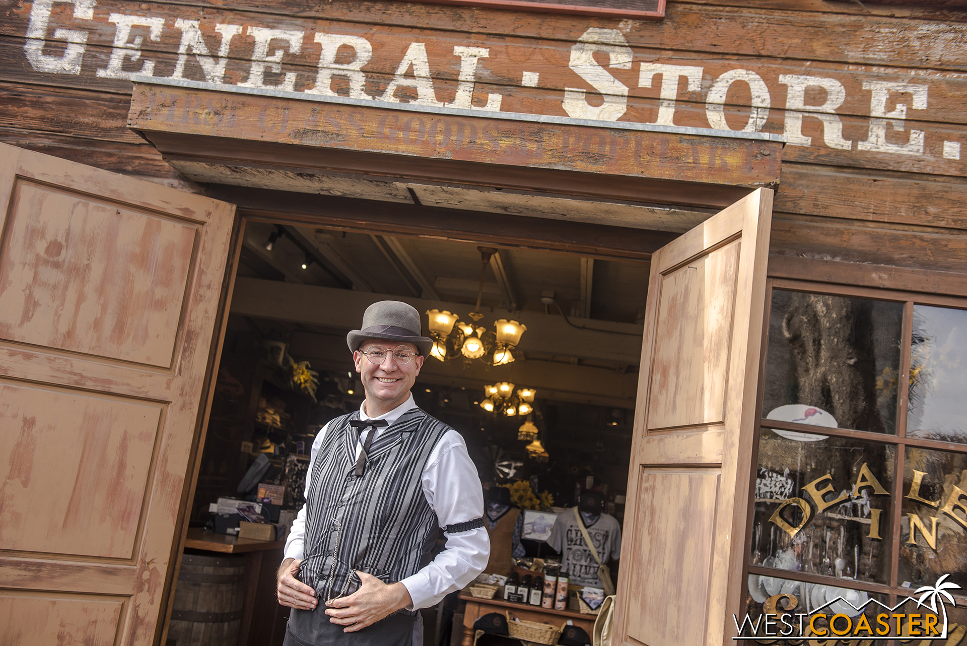 Colonel Clem Potter, a new character this year, has opened up the General Store for Calico's supply needs.