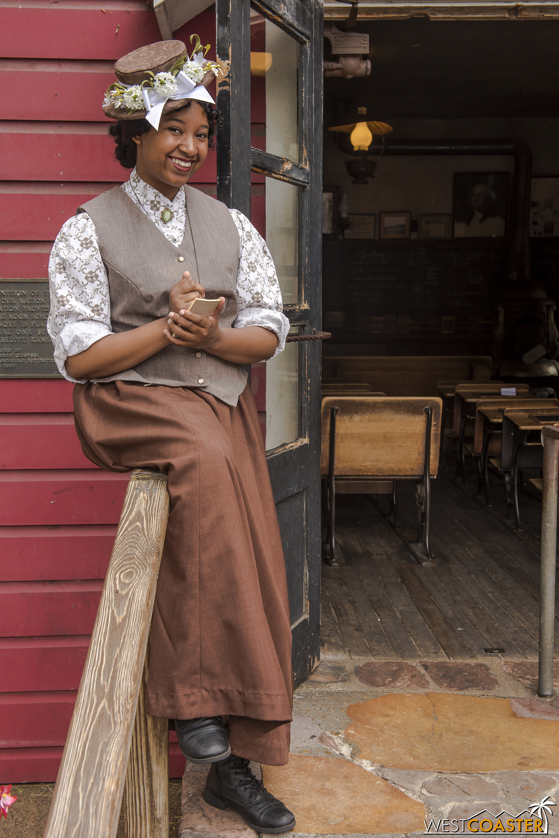 Miss Marybelle Starling is new to Calico this year.  She is one of two teachers at the old Schoolhouse.
