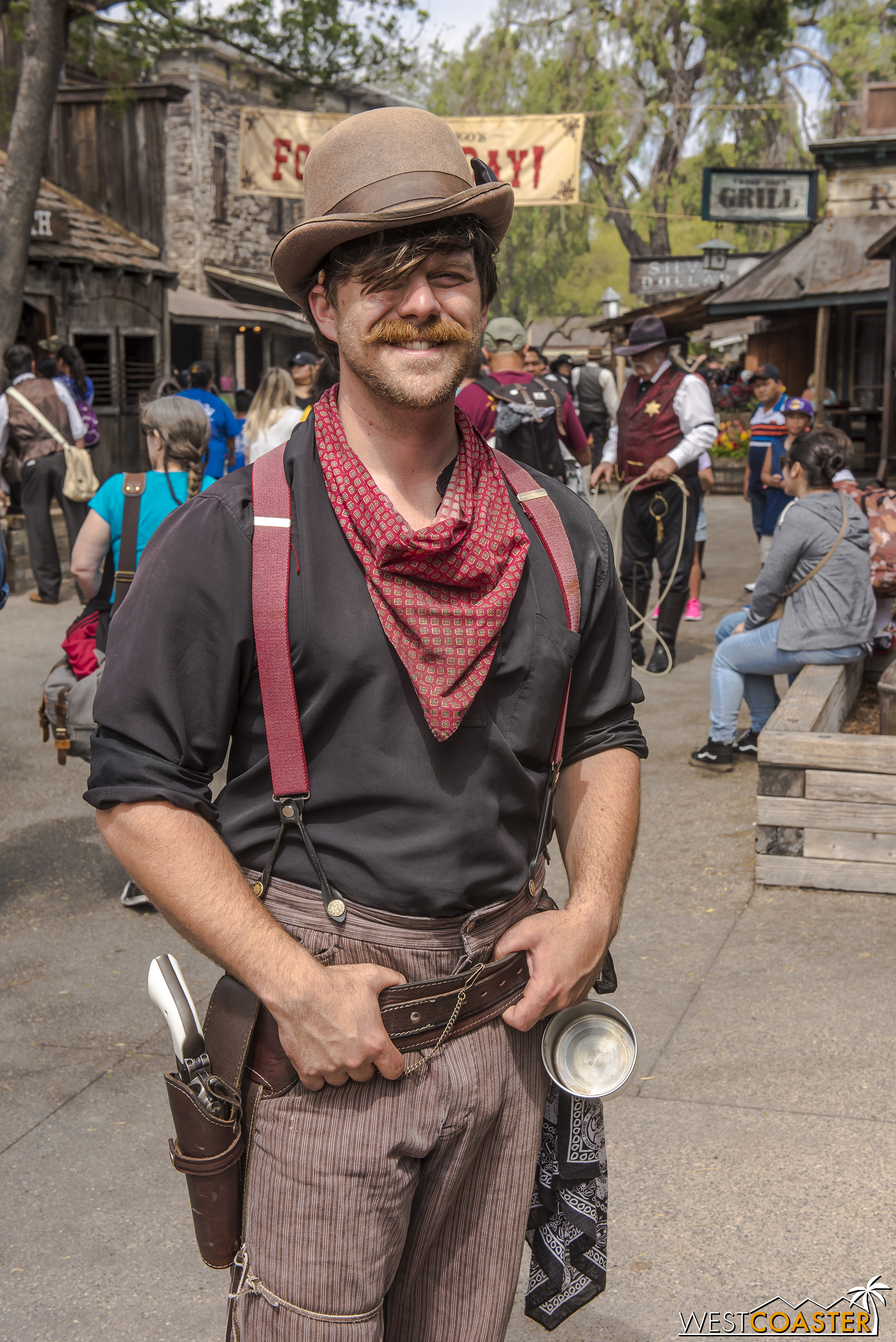 Scruff Mayfield is also back.  When not participating in banditry trouble, he also battles nerves in trying to ask Miss Lucy out to the Hoedown.