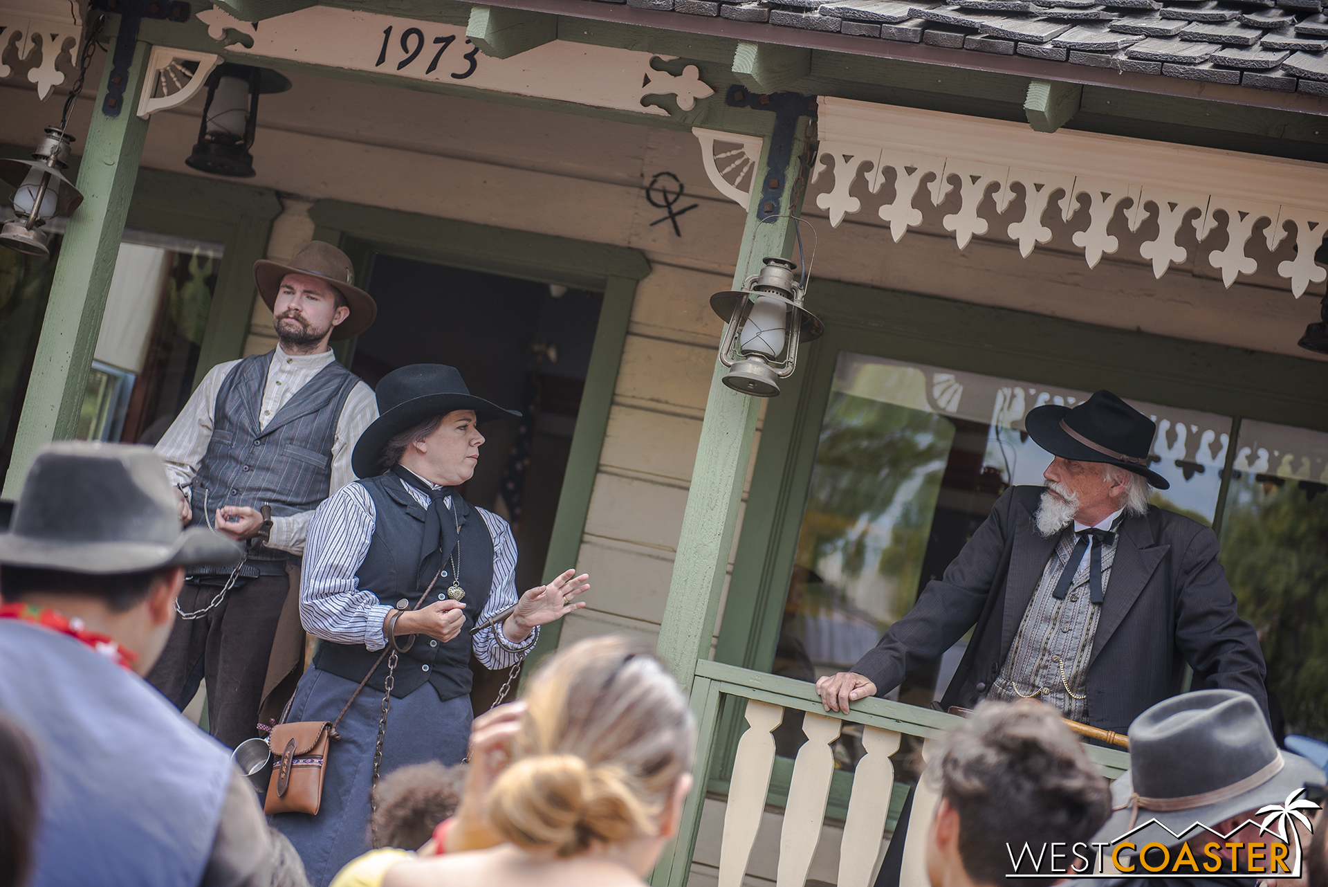 In front of the townspeople, Phyllis Mayfield is given the chance to plead her case by Judge Roy Bean, who also reveals his romantic past with Ma Mayfield, much to everyone's shock.