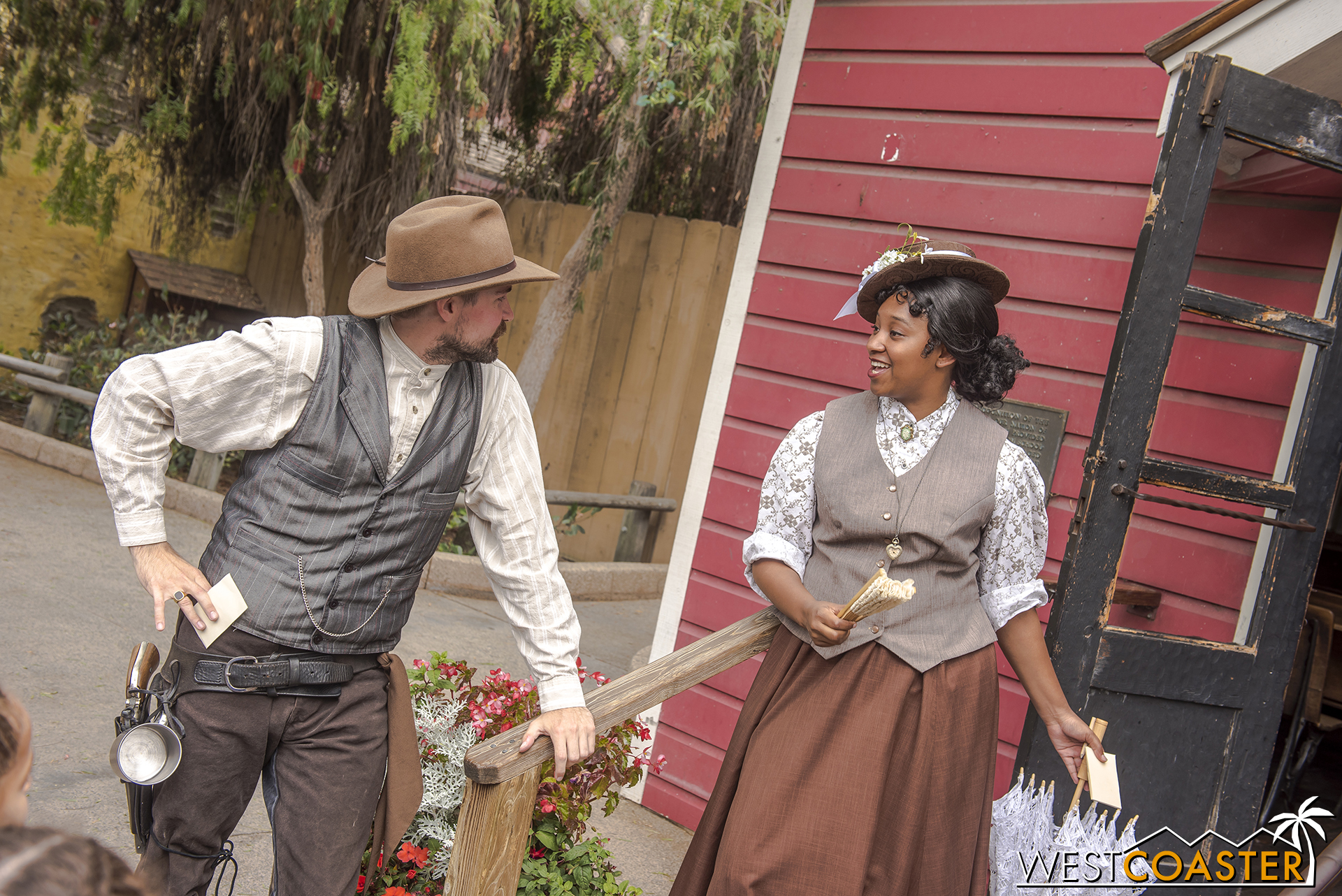 """In a parallel storyline, """"No Name"""" Cunningham  woos Miss Marybelle to be his date to the hoedown later in the afternoon."""
