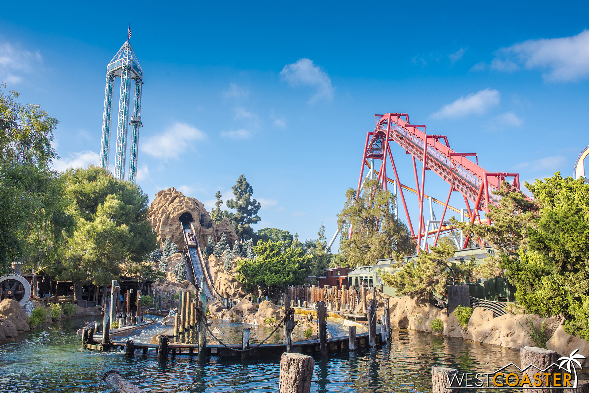 The Log Ride is still thrilling riders after all these decades.