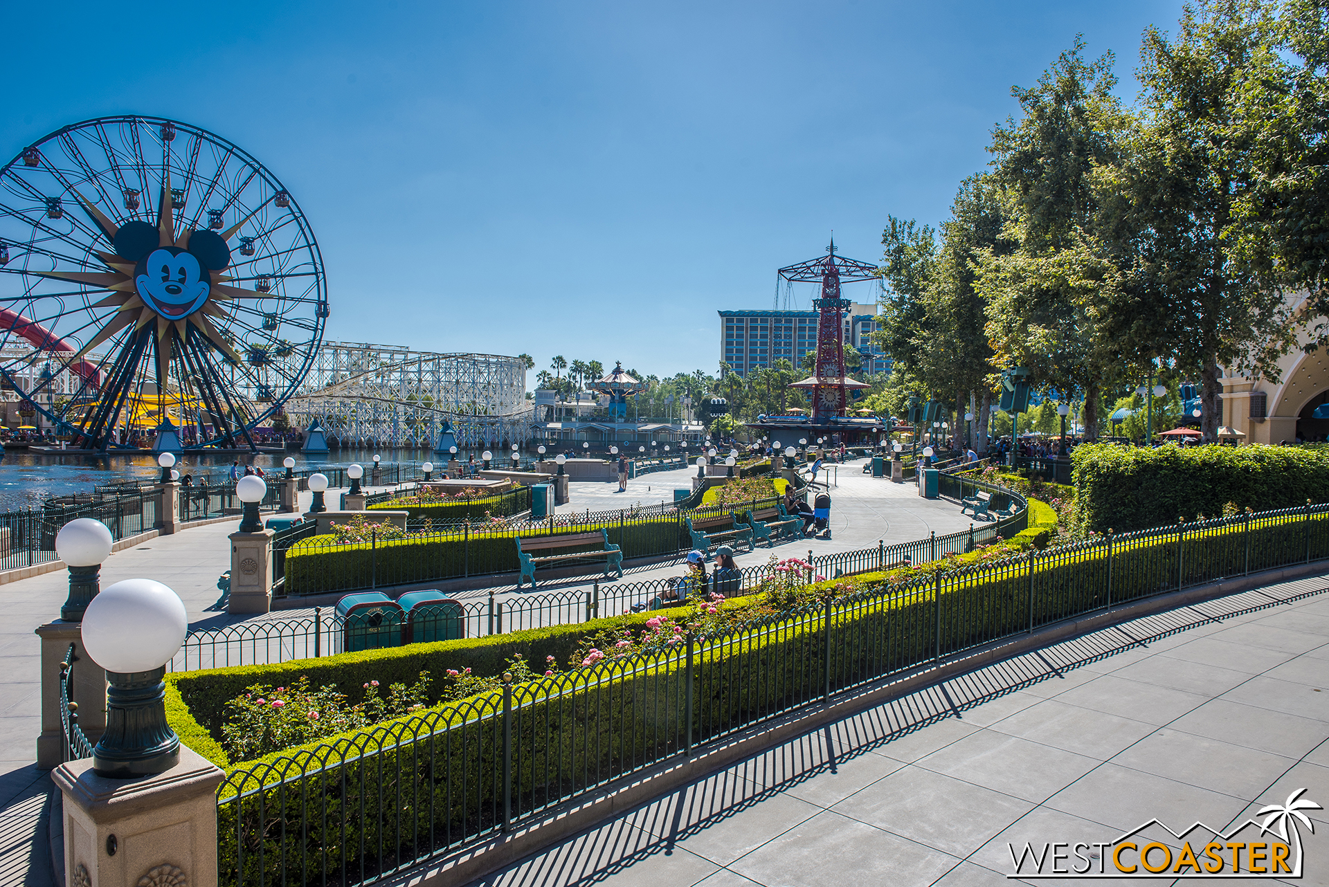 Paradise Park was formerly only the name of the World of Color viewing area, but now, it's the name of the entire front half of the ex-Paradise Pier.