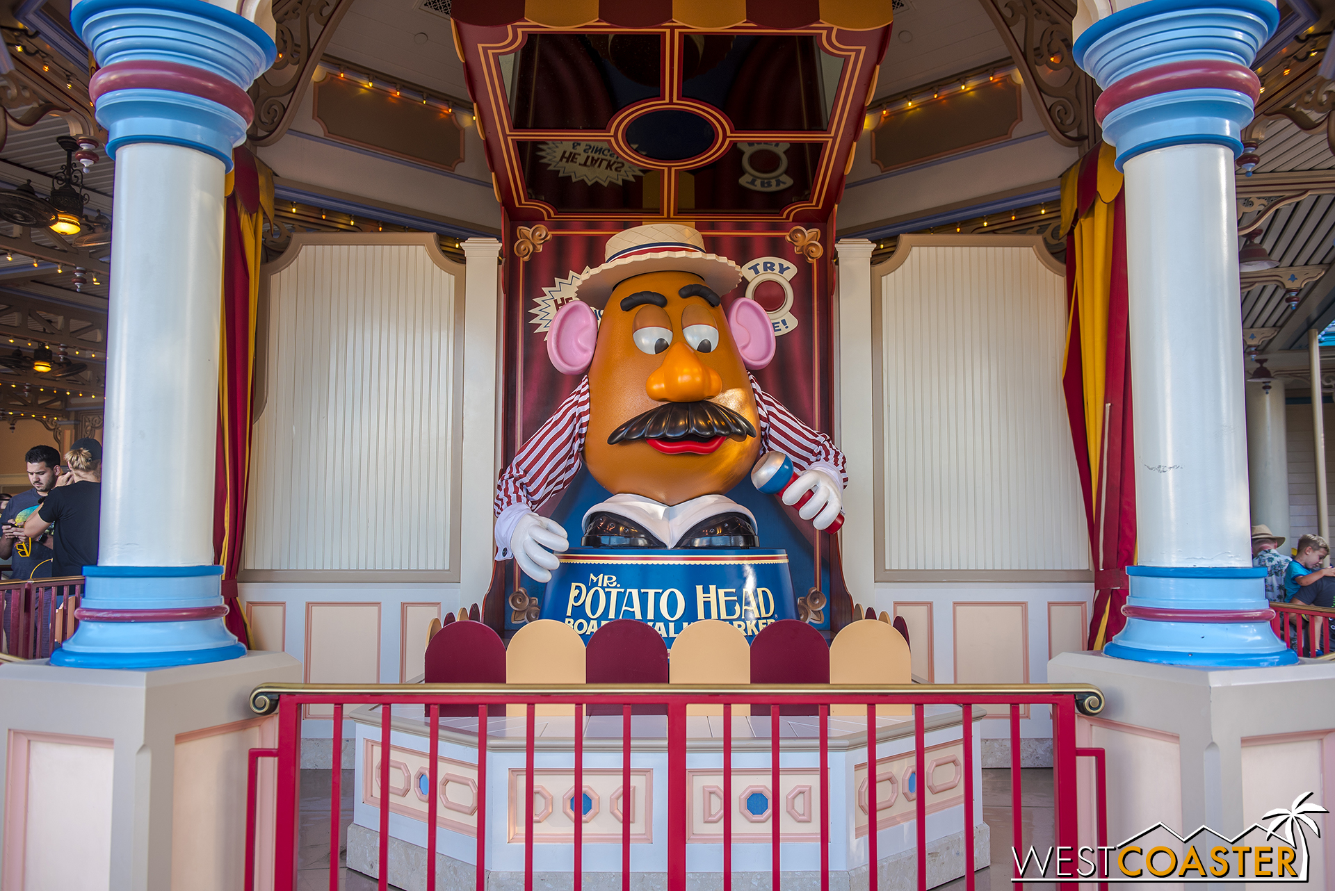 Also nice to see is Mr. Potato Head no longer confined behind the line.