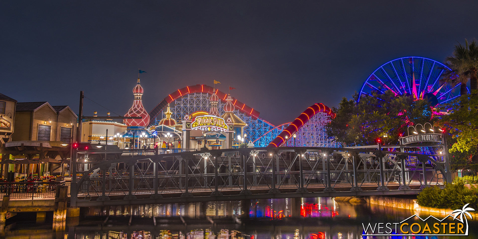 For all that it's been aligned, there are definitely many photogenic angles for Pixar Pier.