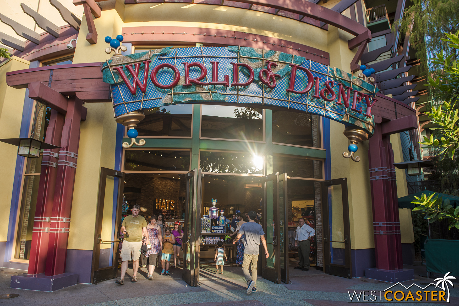 In contrast to the rest of the tenants at Downtown Disney, the World of Disney store hasn't really seen any exterior changes.