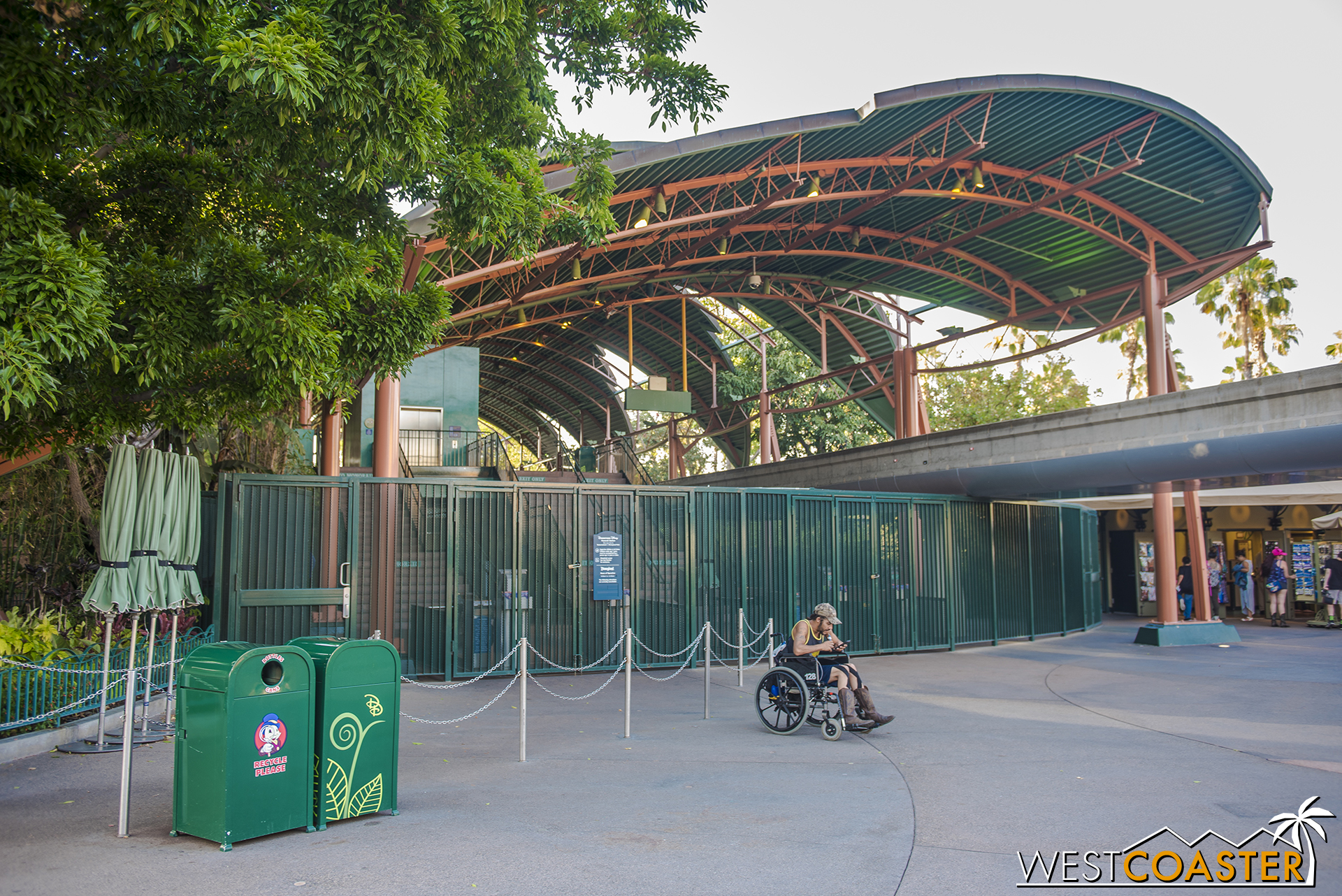 In fact, even the monorail stop is no longer in function.