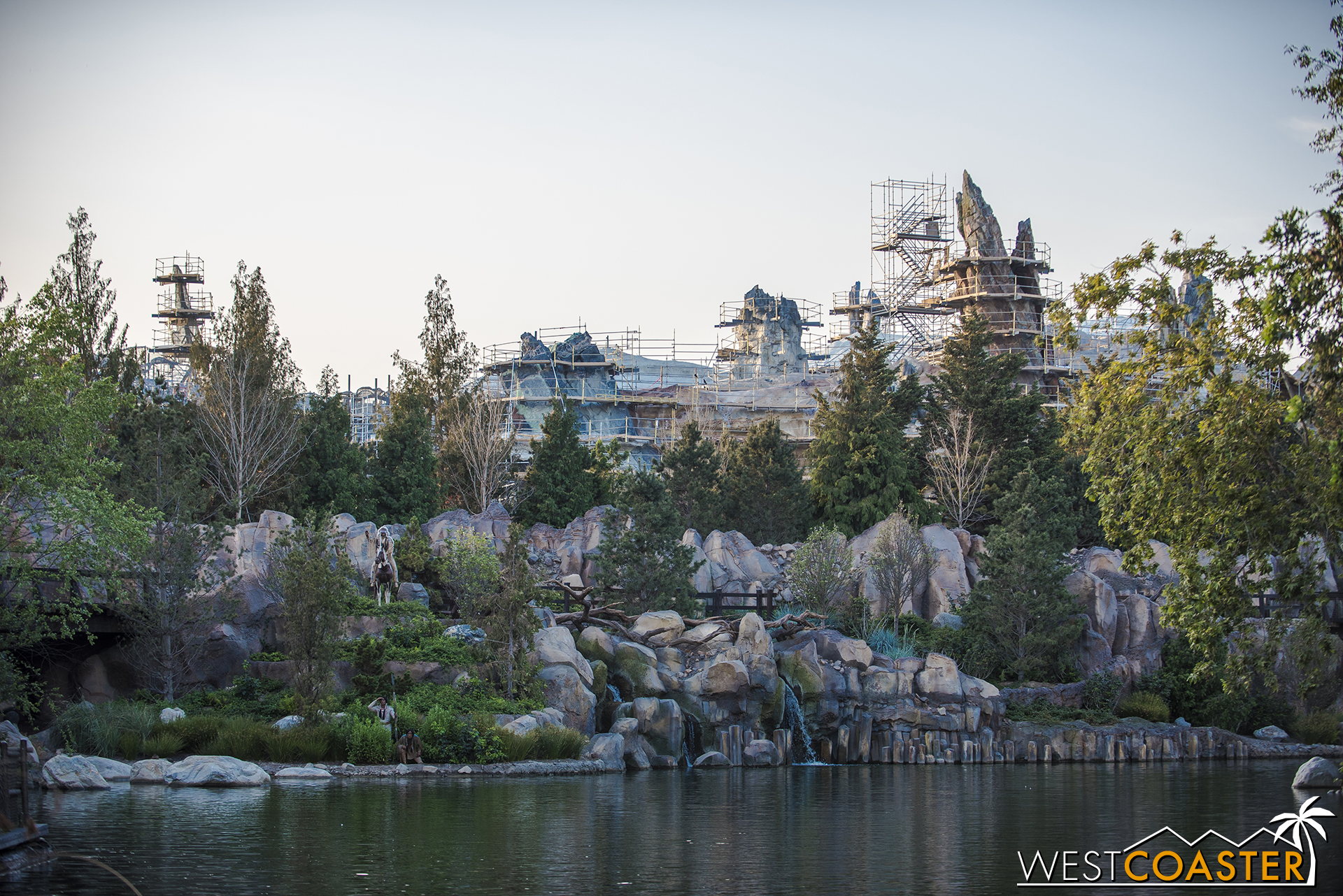 And on the Rivers of America side, they're really starting to get prominent!