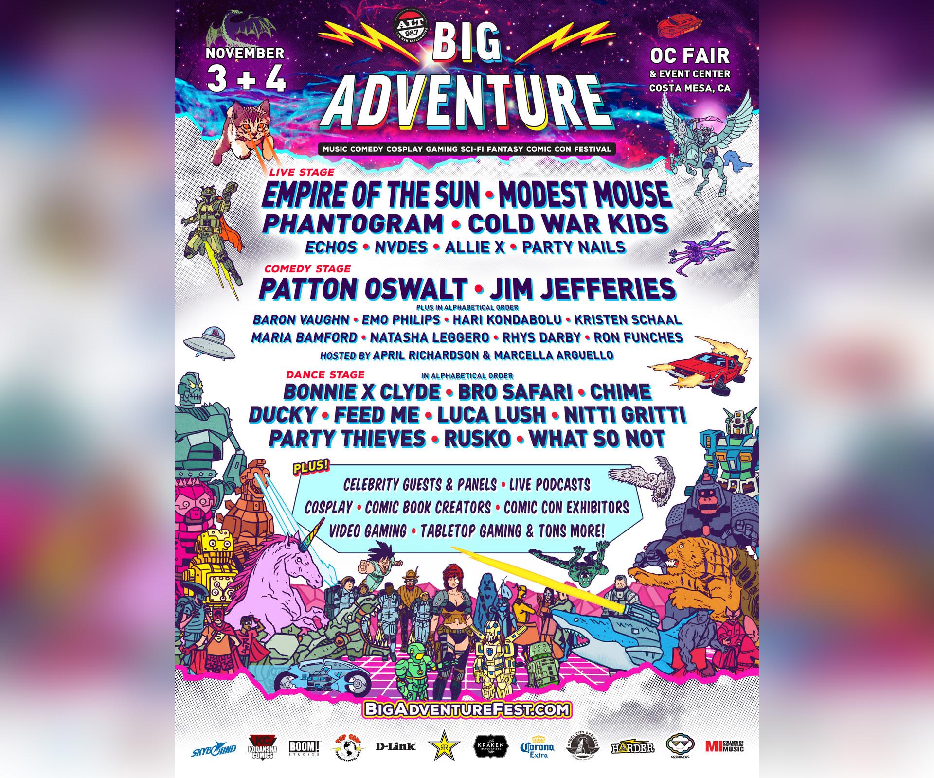Festival lineup poster courtesy of Big Adventure Festival.