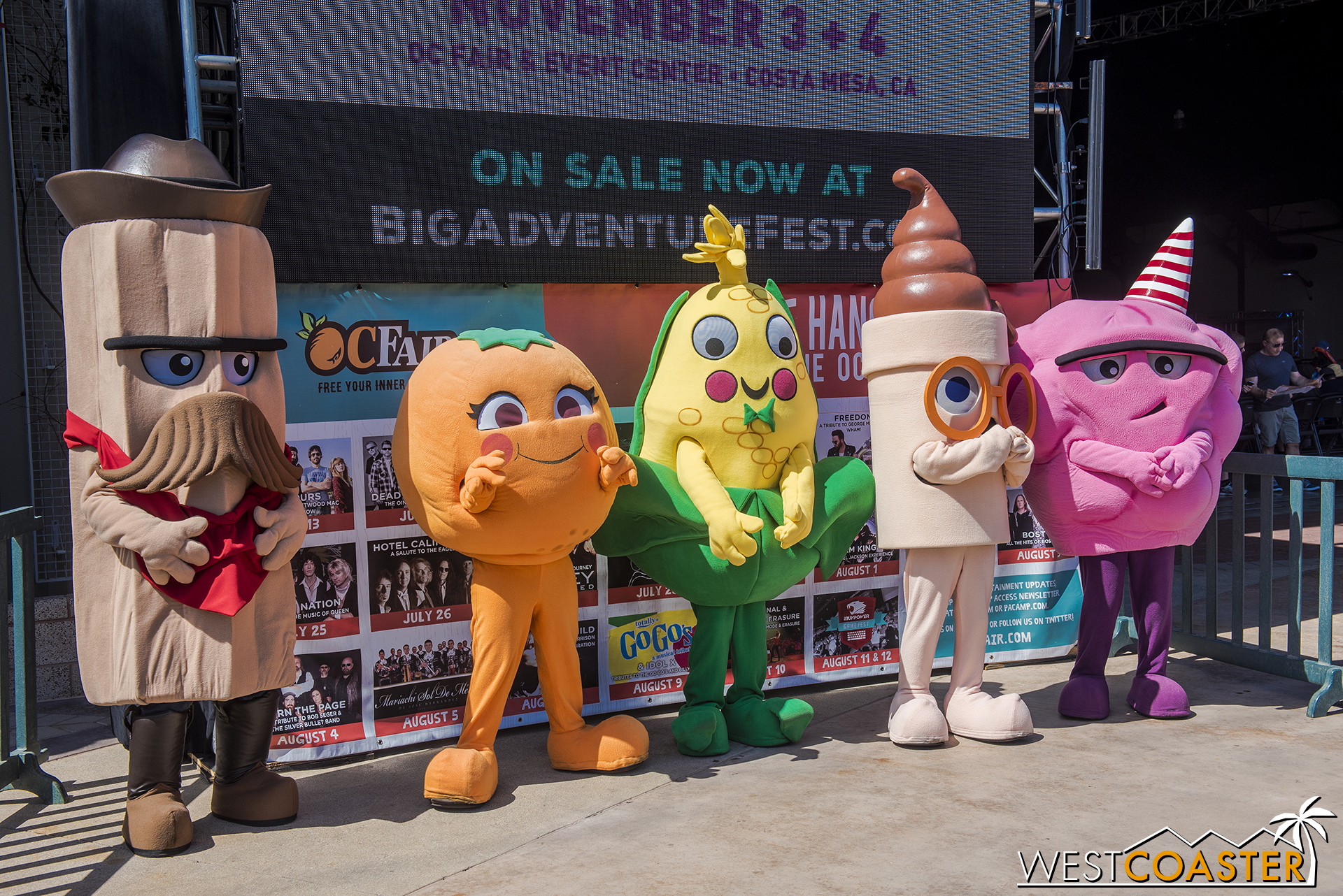The Fair mascots are on hand for photos throughout the day.