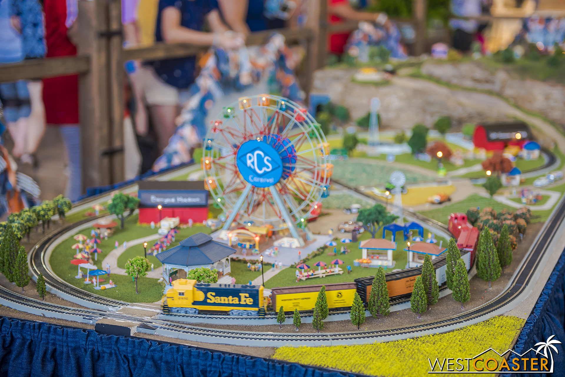 There's a cool miniature railroad this year too.