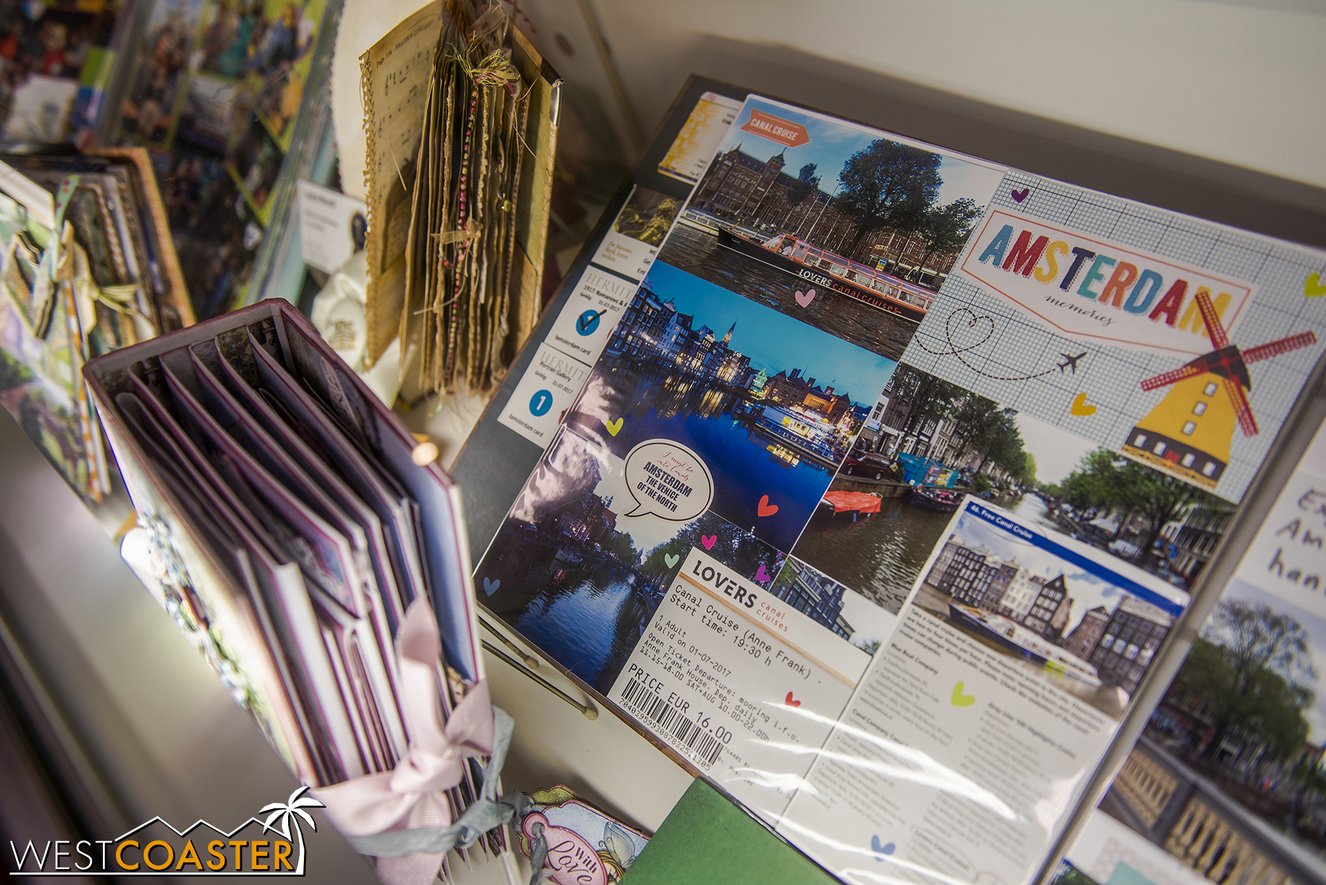 It's also home to scrapbooking and papercraft displays, submitted by contestants.