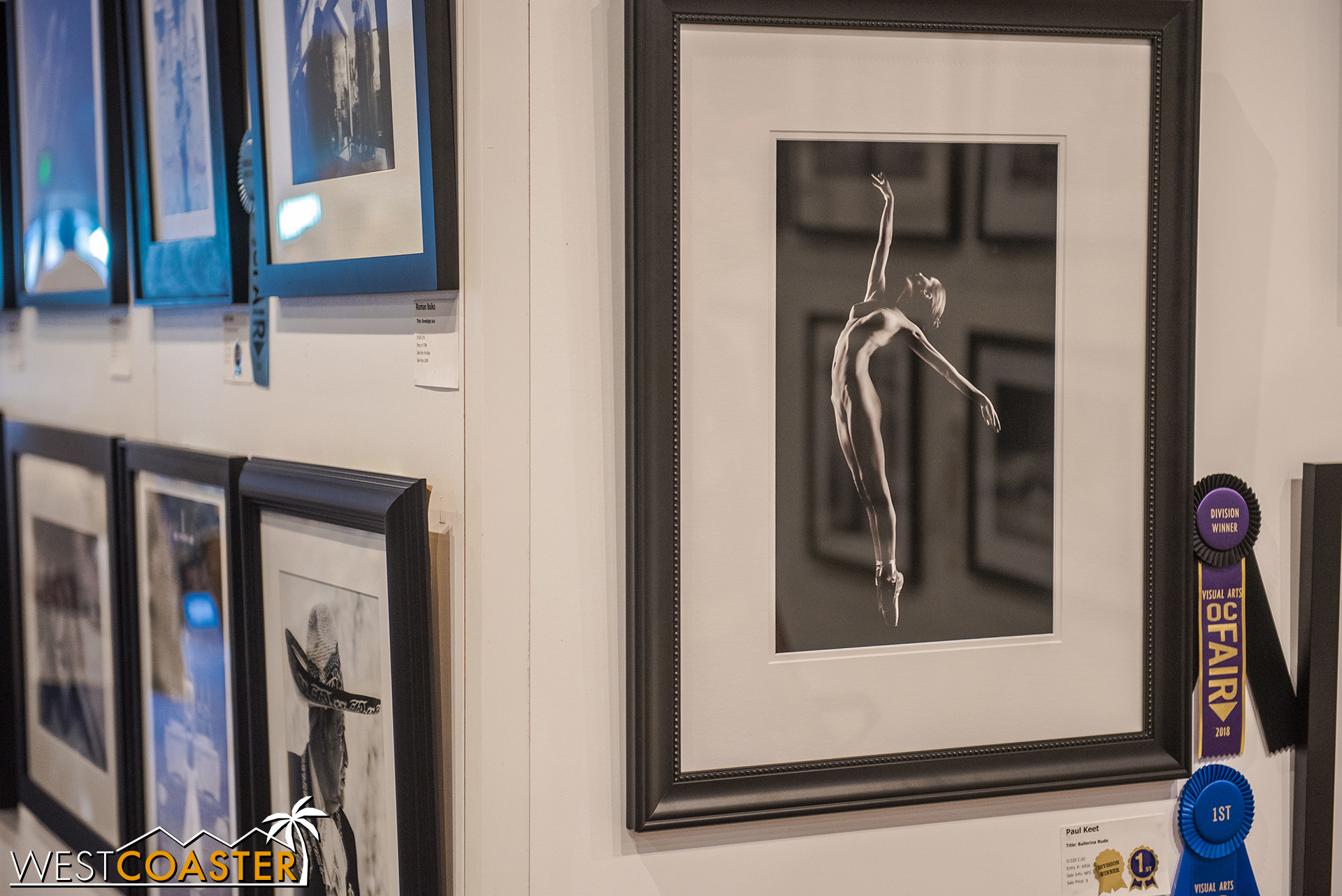 It's rare to see nudes on display, but this photo was award winning (and compositionally pretty amazing), so it made it through the filters.