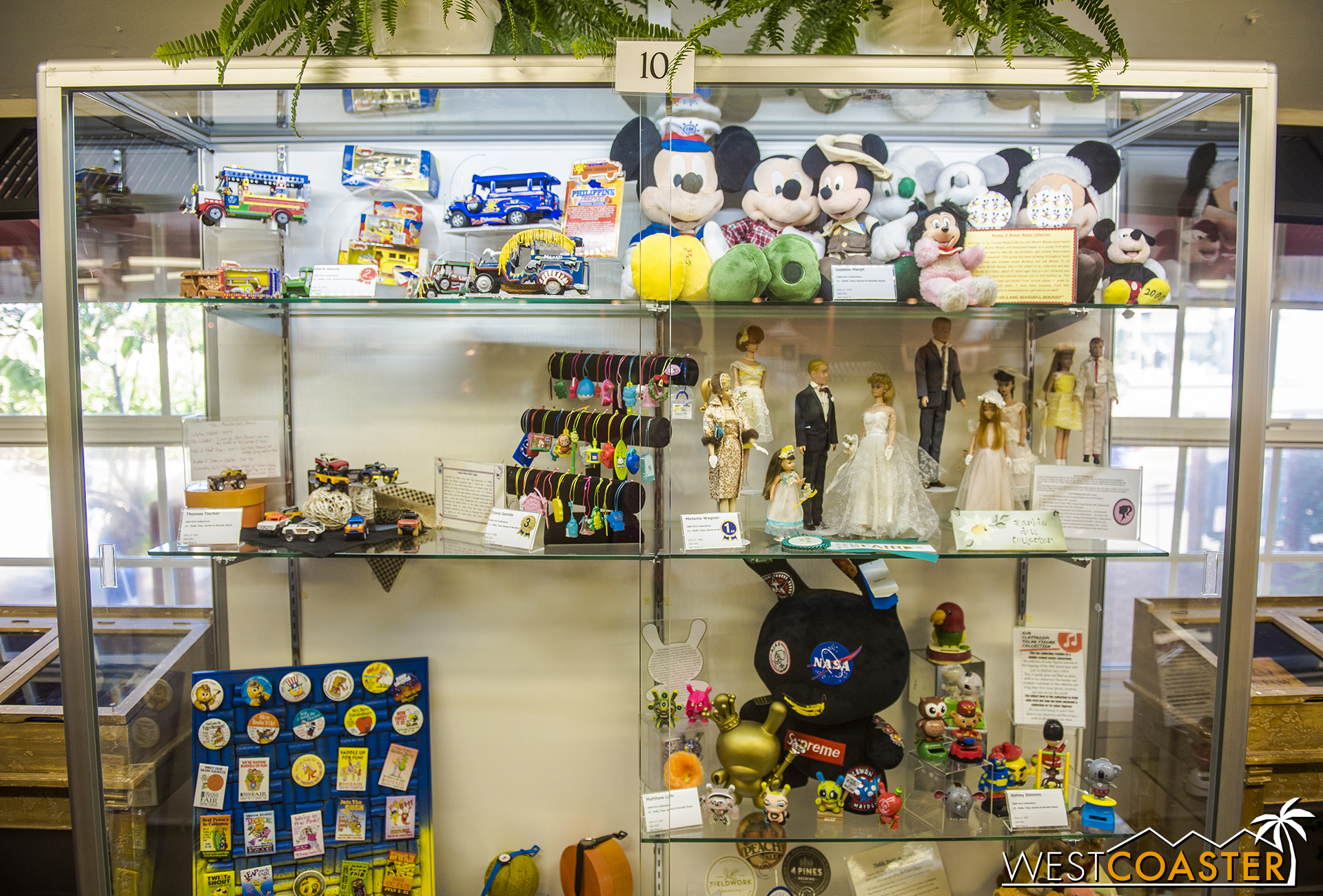 At the hall next to Crafters Village in Centennial Farms, the Collections exhibit—which sometimes features some pretty bizarre items that people collect—can be found.