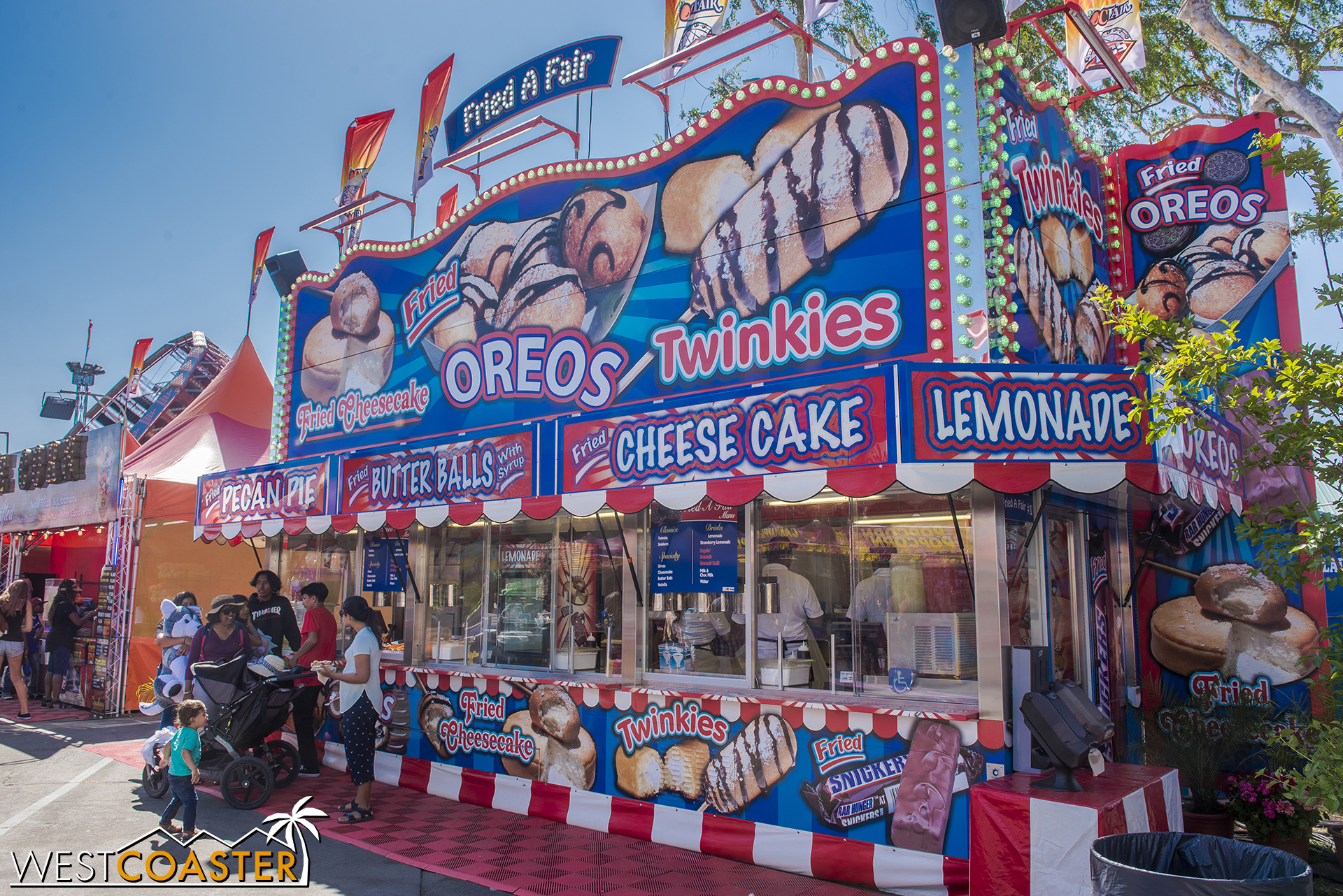 Fried A Fair has several stands around the OC Fair and plenty of deep friend desserts.  From past years' experience, the Deep Fried Oreos are and Fried Cheesecake are actually pretty good.